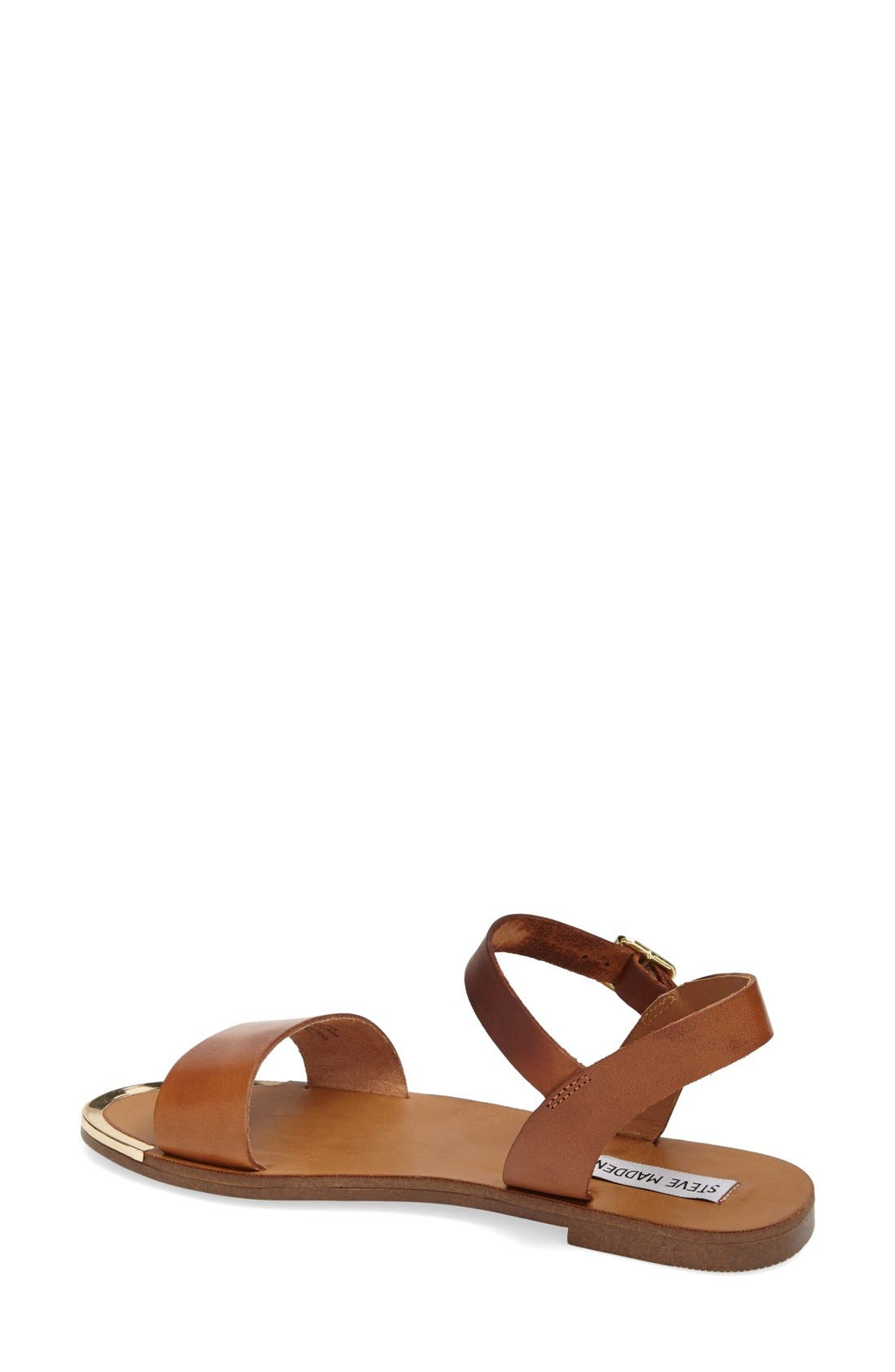 'Rillie' Two Strap Sandal,                             Alternate thumbnail 2, color,                             Tan Leather