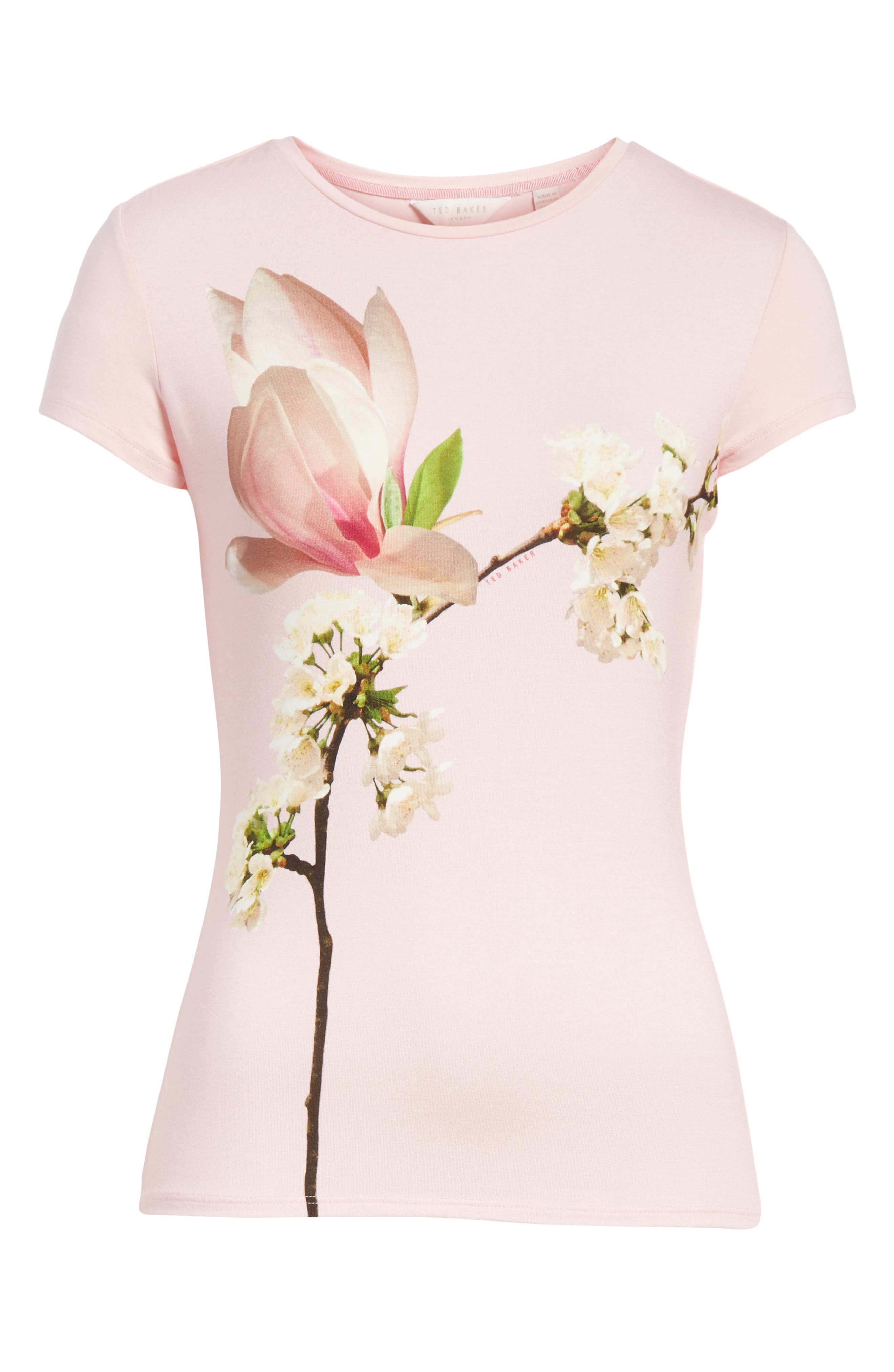 Ameliza Harmony Fitted Tee,                             Alternate thumbnail 6, color,                             Pale Pink