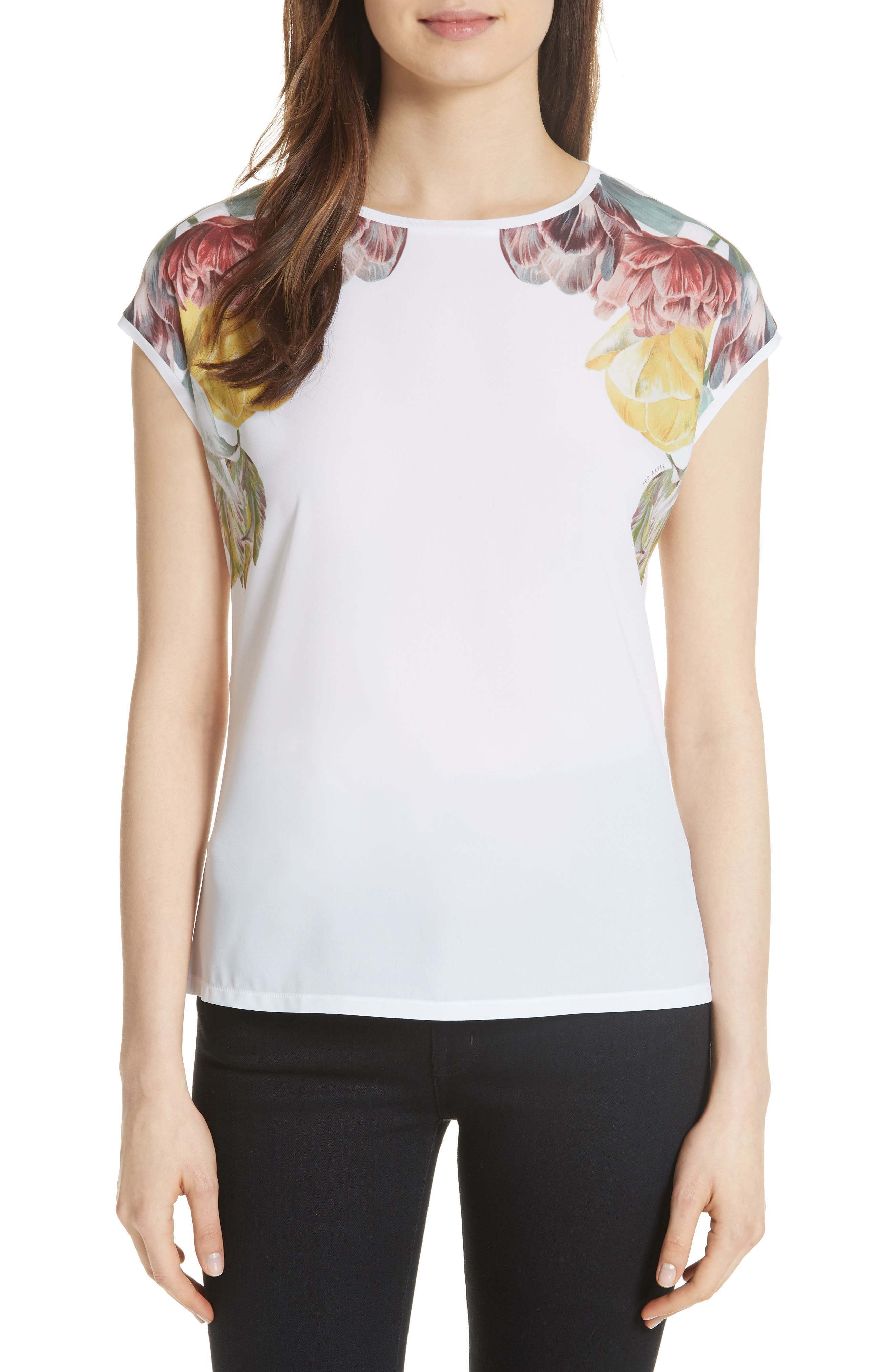 Anee Tranquility Woven Front Top,                             Main thumbnail 1, color,                             White