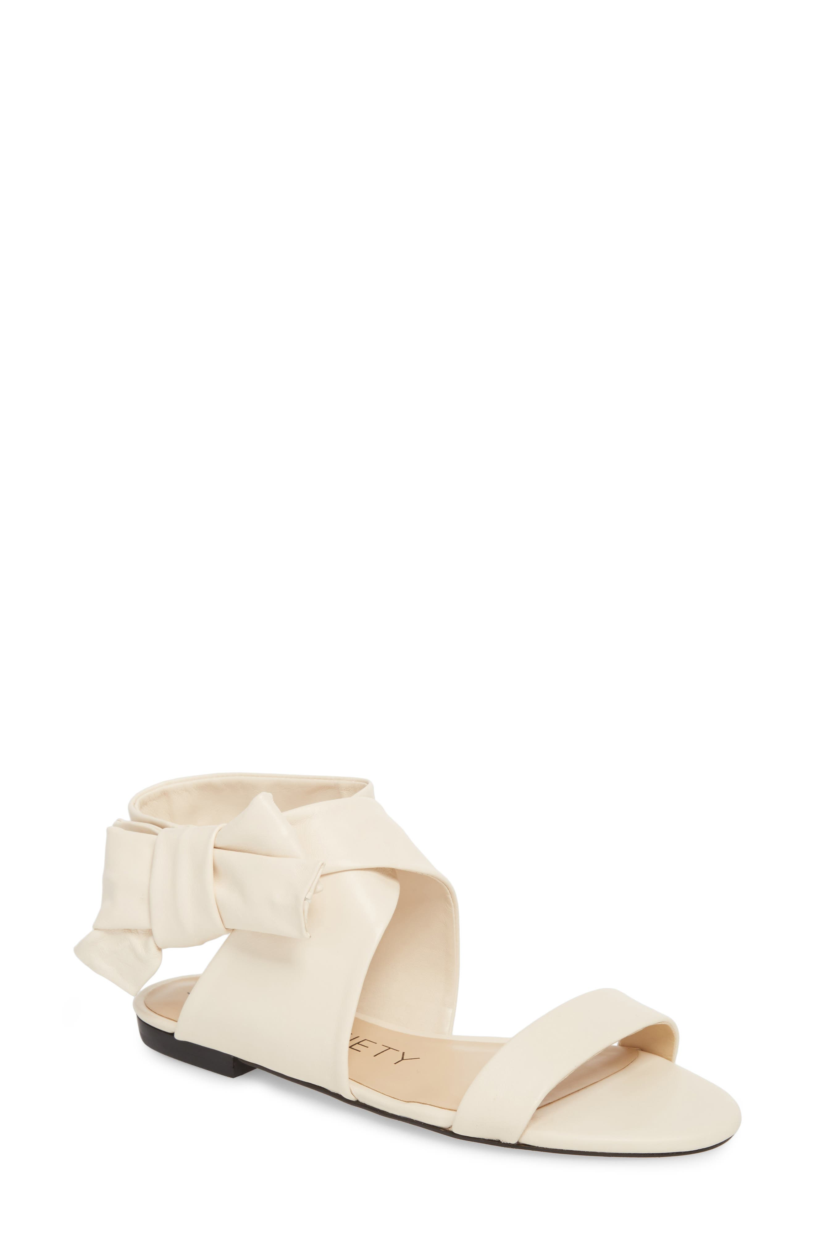 Sole Society Calynda Bow Ankle Wrap Sandal (Women)