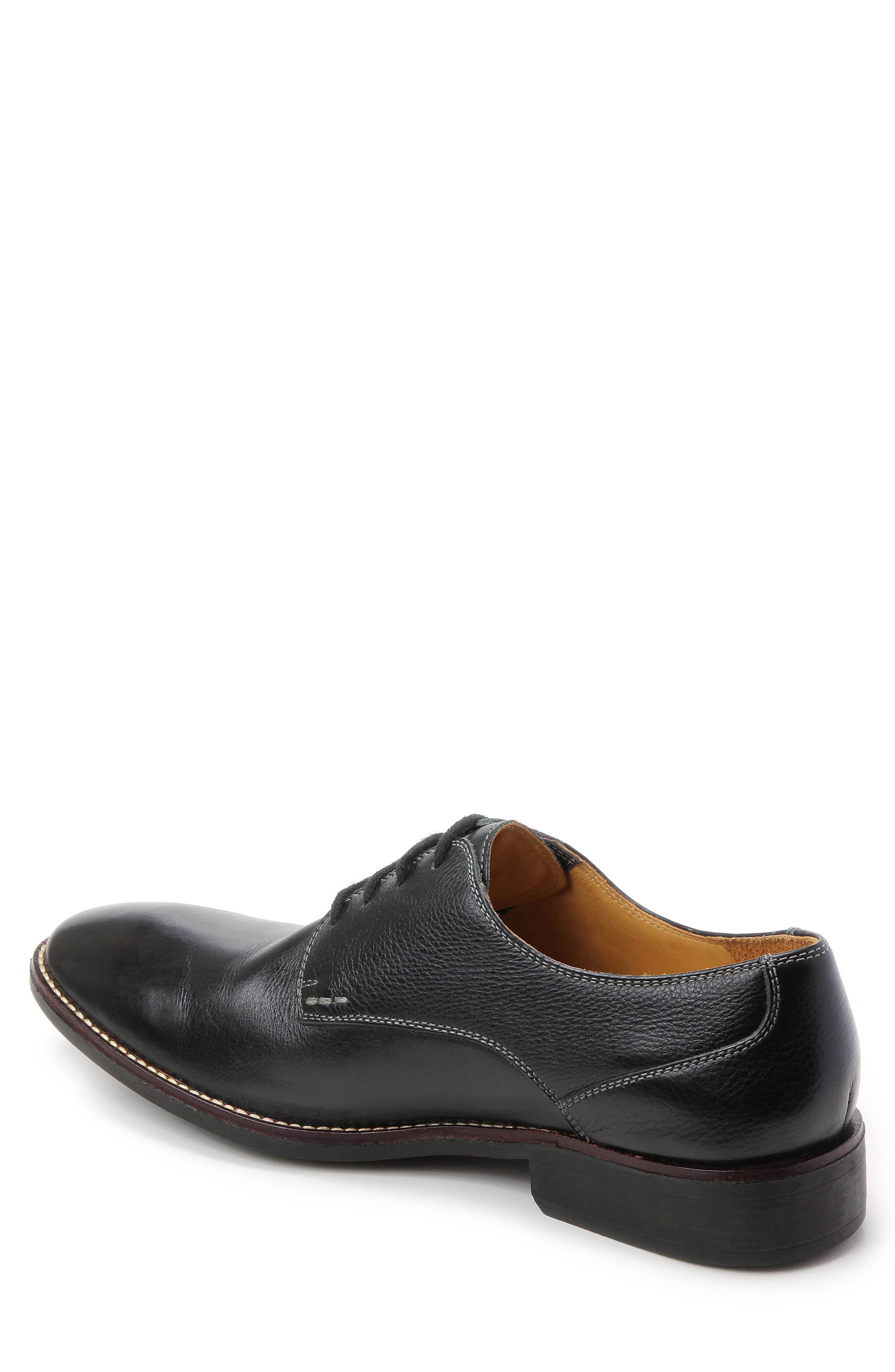 'Olsen' Plain Toe Derby,                             Alternate thumbnail 2, color,                             Black Leather