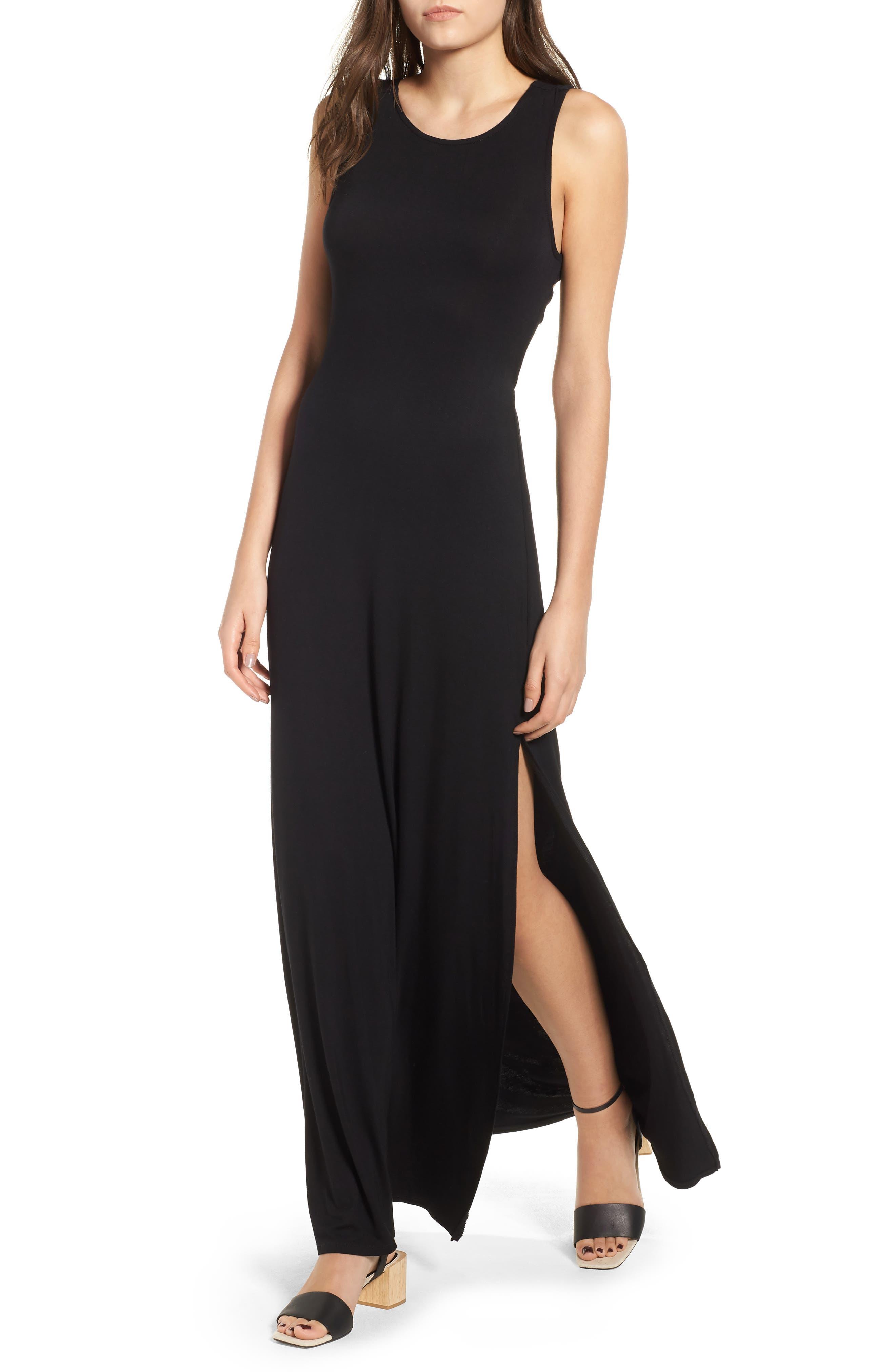 Love, Fire Twist Back Maxi Dress