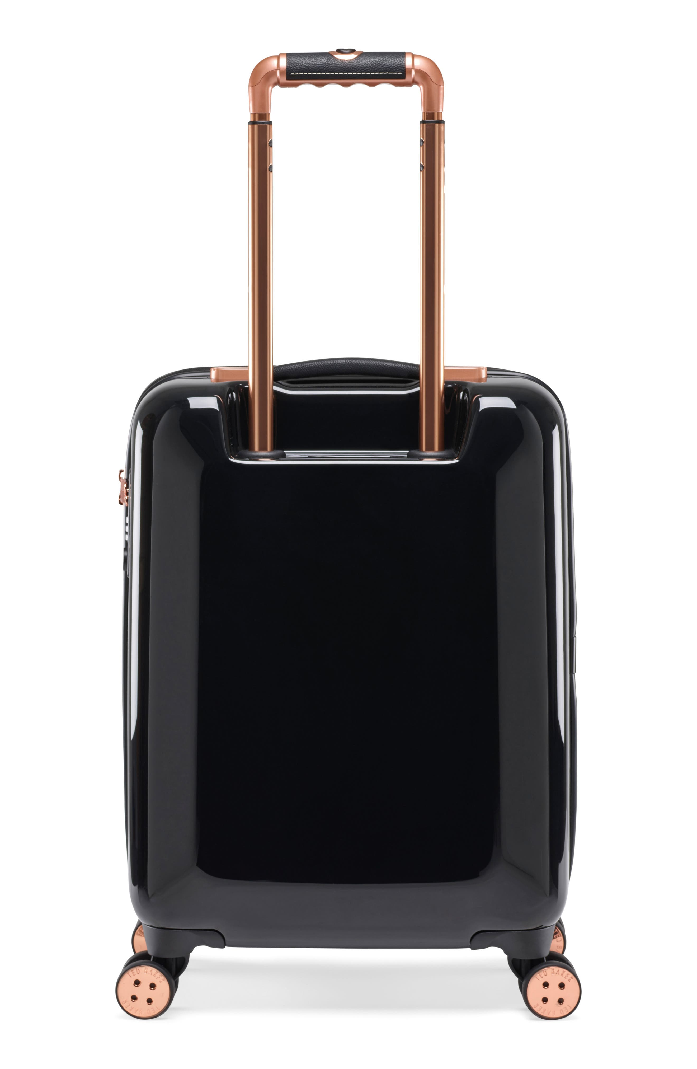 Small Versailles 21-Inch Spinner Carry-On,                             Alternate thumbnail 4, color,                             Black