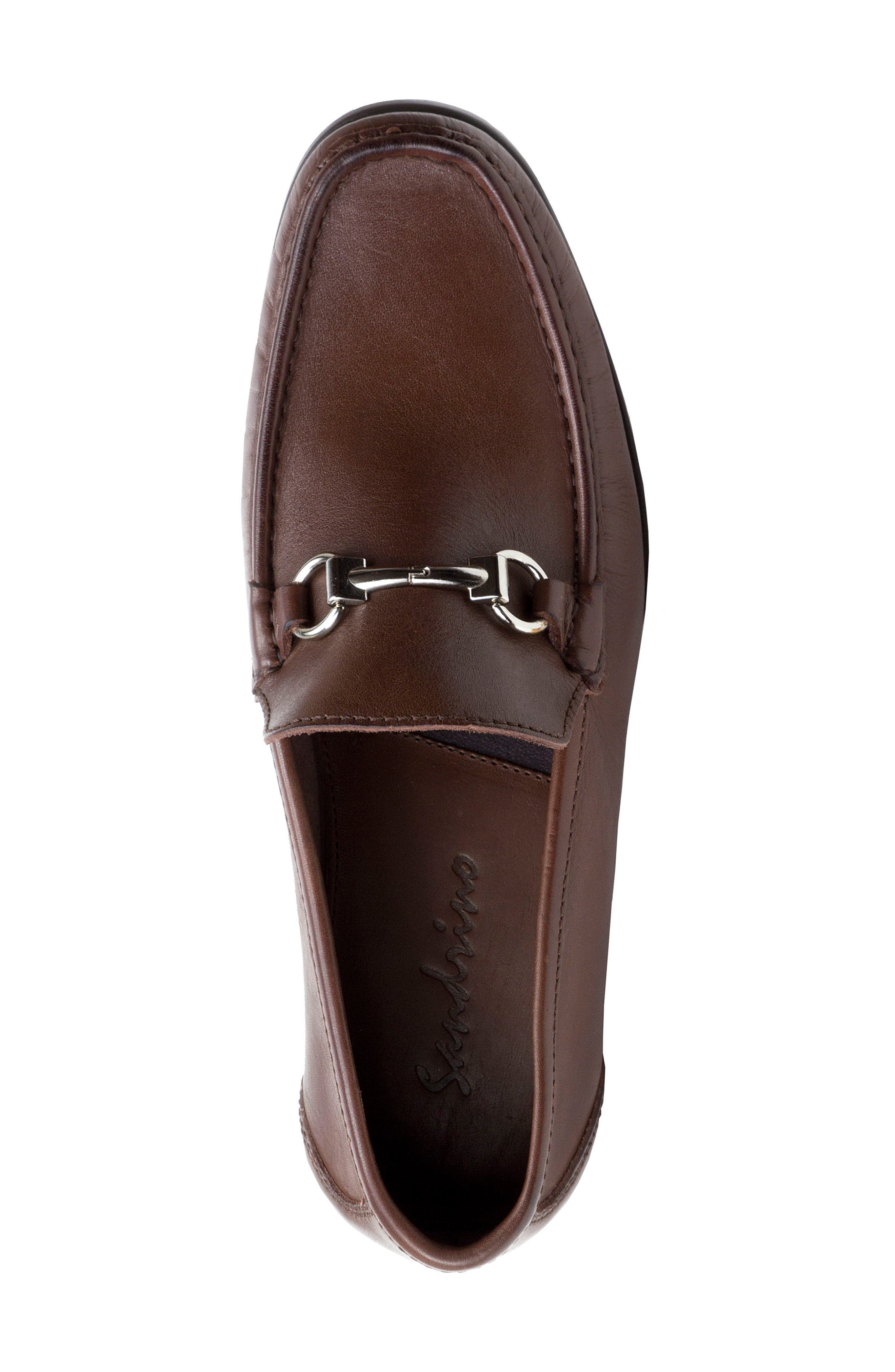 'Malibu' Suede Bit Loafer,                             Alternate thumbnail 5, color,                             Brown Leather