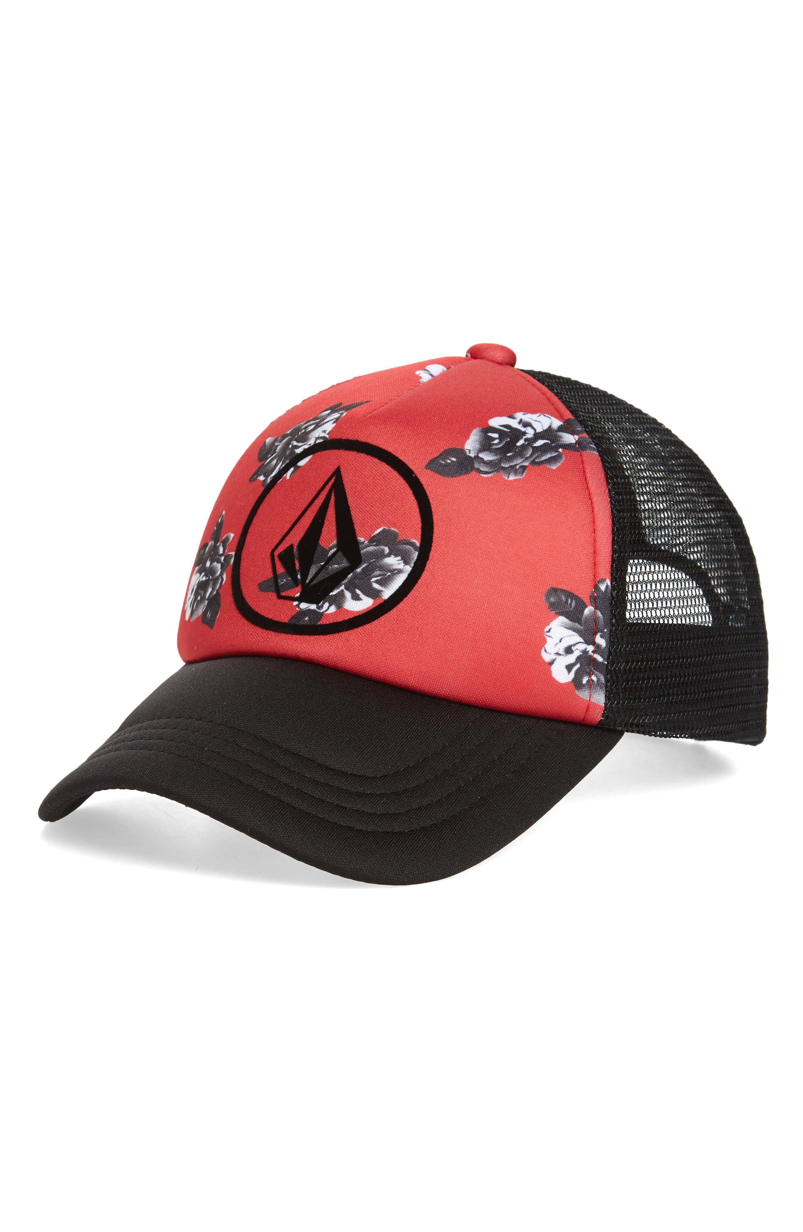 Tagurit Trucker Hat,                             Main thumbnail 1, color,                             Red Rad