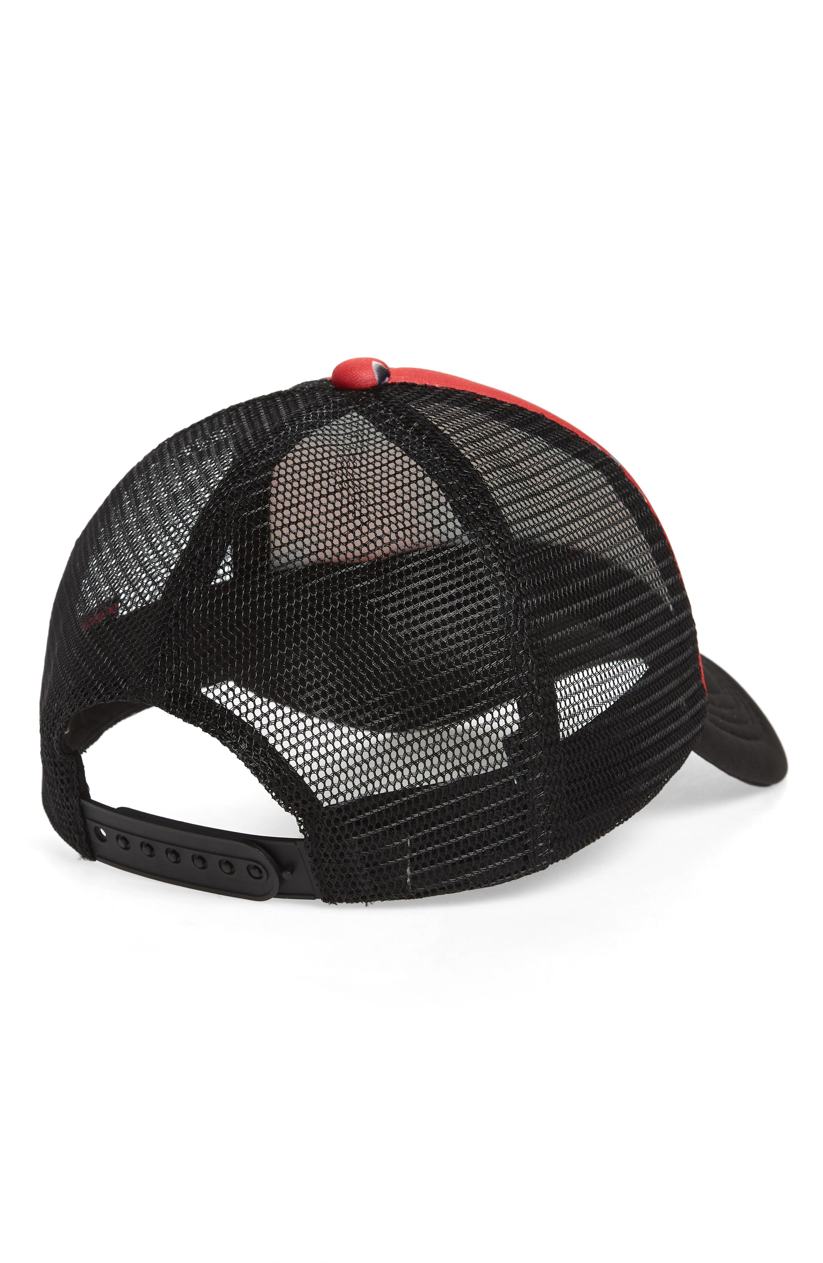 Tagurit Trucker Hat,                             Alternate thumbnail 2, color,                             Red Rad