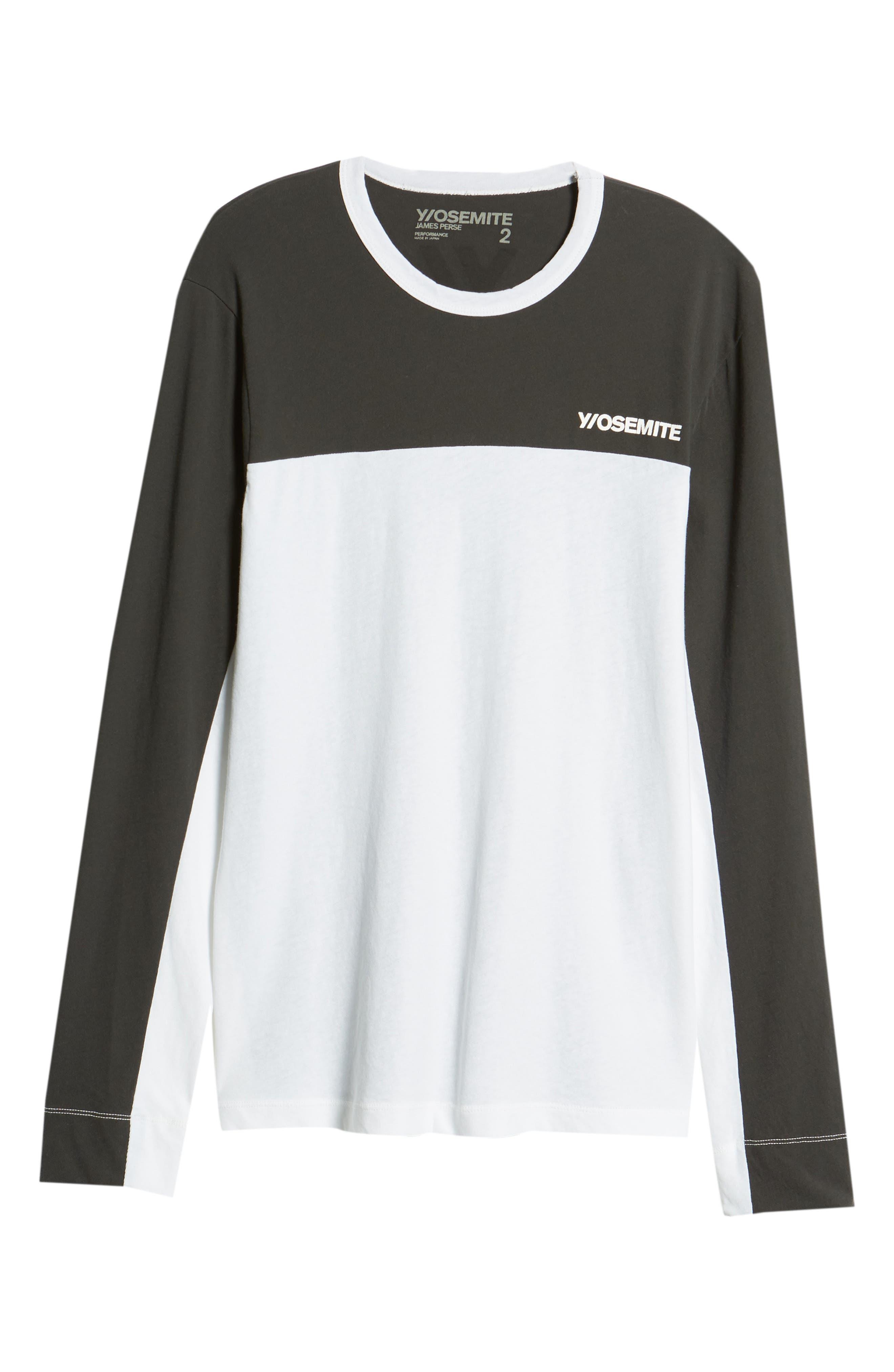 Colorblock Motocross Shirt,                             Alternate thumbnail 6, color,                             Carbon White