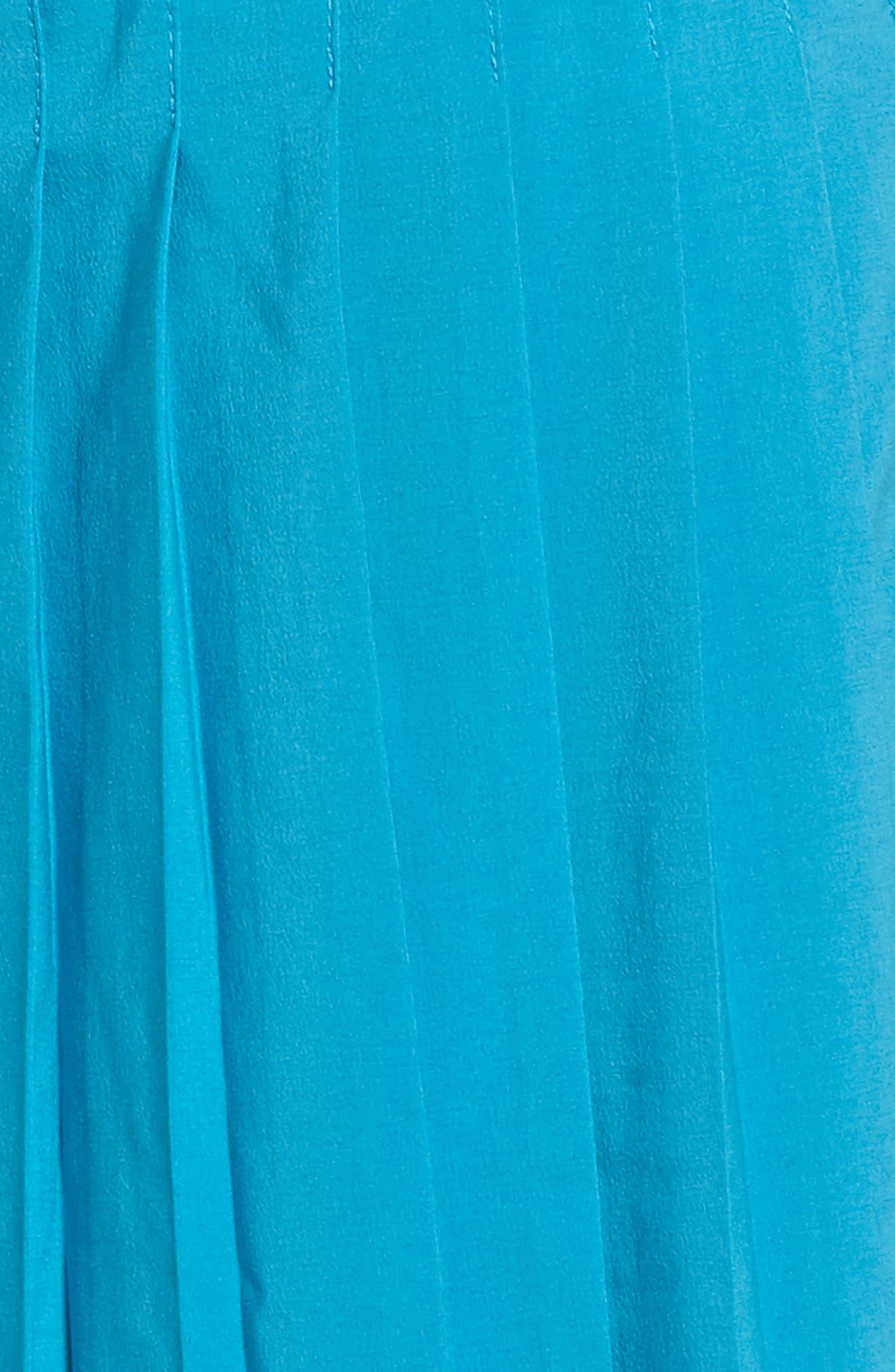 'Victory' Pleat Dri-FIT Tennis Skirt,                             Alternate thumbnail 6, color,                             Neo Turquoise/ Black