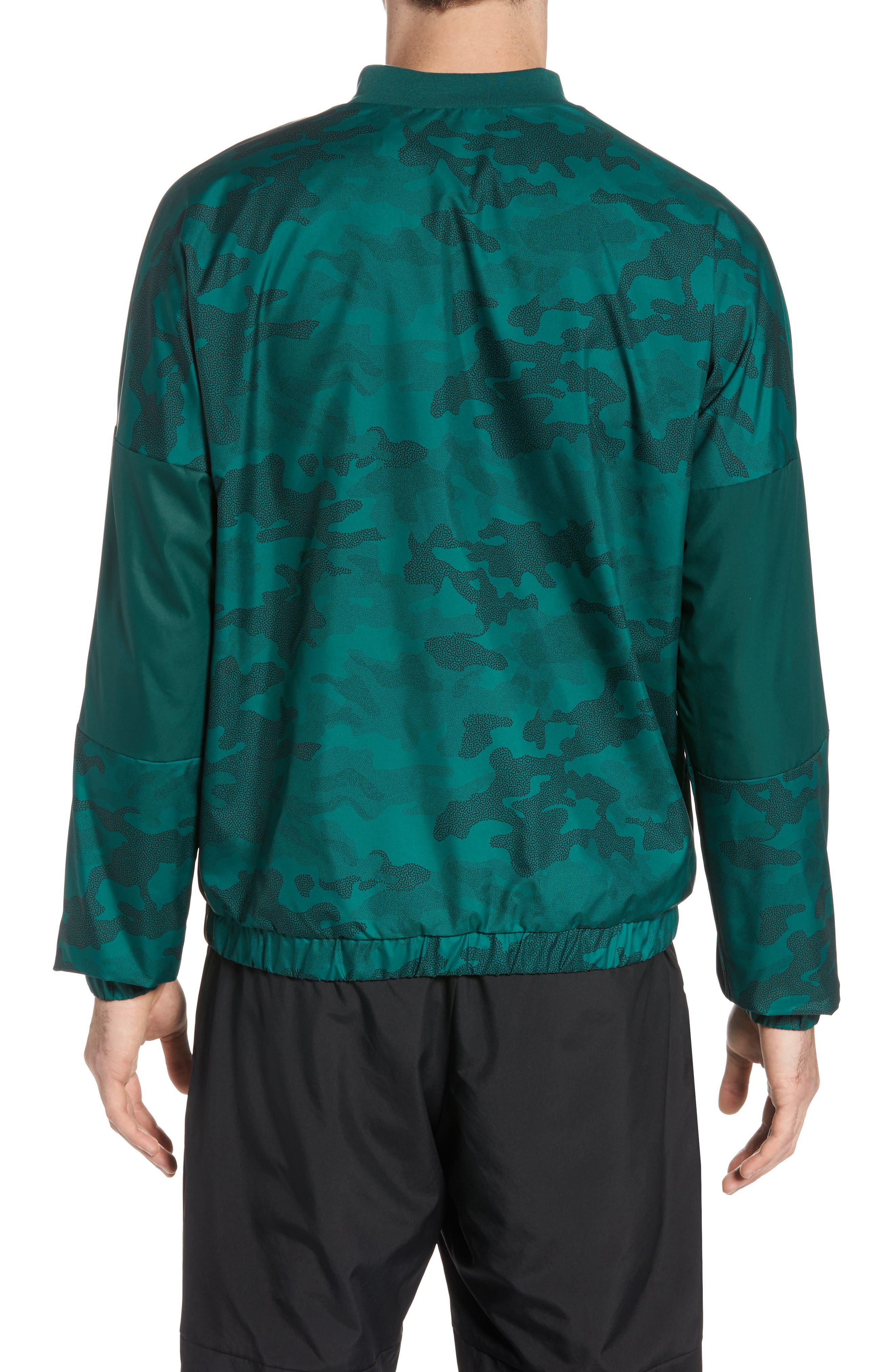 Regular Fit Track Jacket,                             Alternate thumbnail 2, color,                             Collegiate Green/ Black
