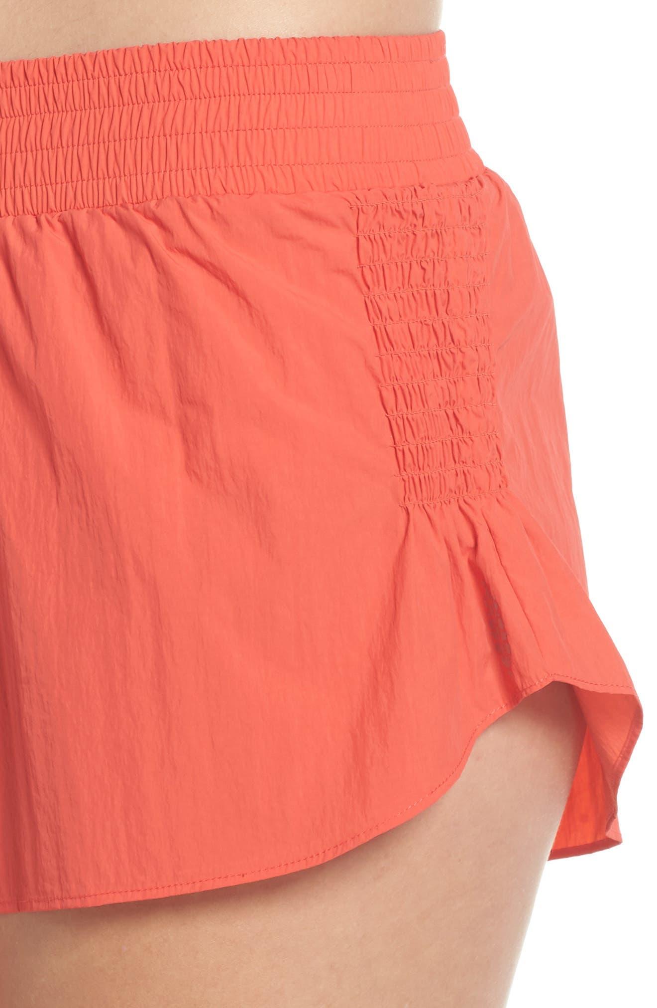 Fuji Shorts,                             Alternate thumbnail 4, color,                             Coral