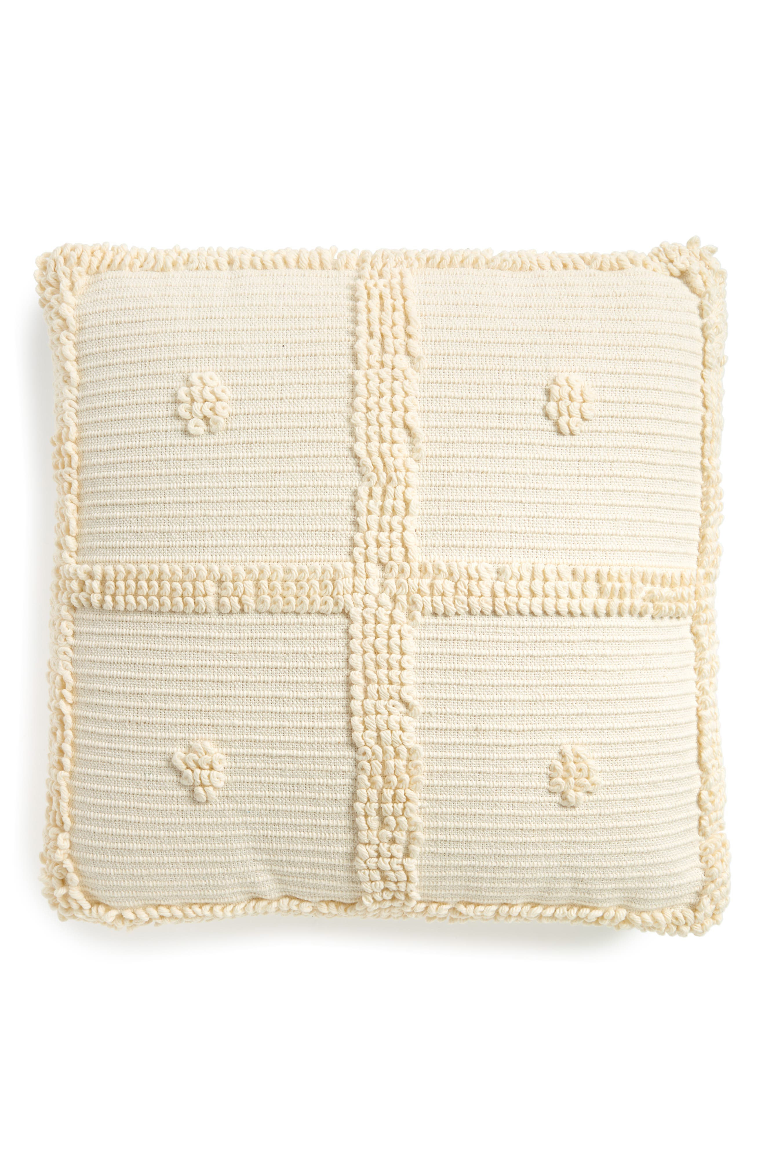 Square Accent Pillow,                             Main thumbnail 1, color,                             White