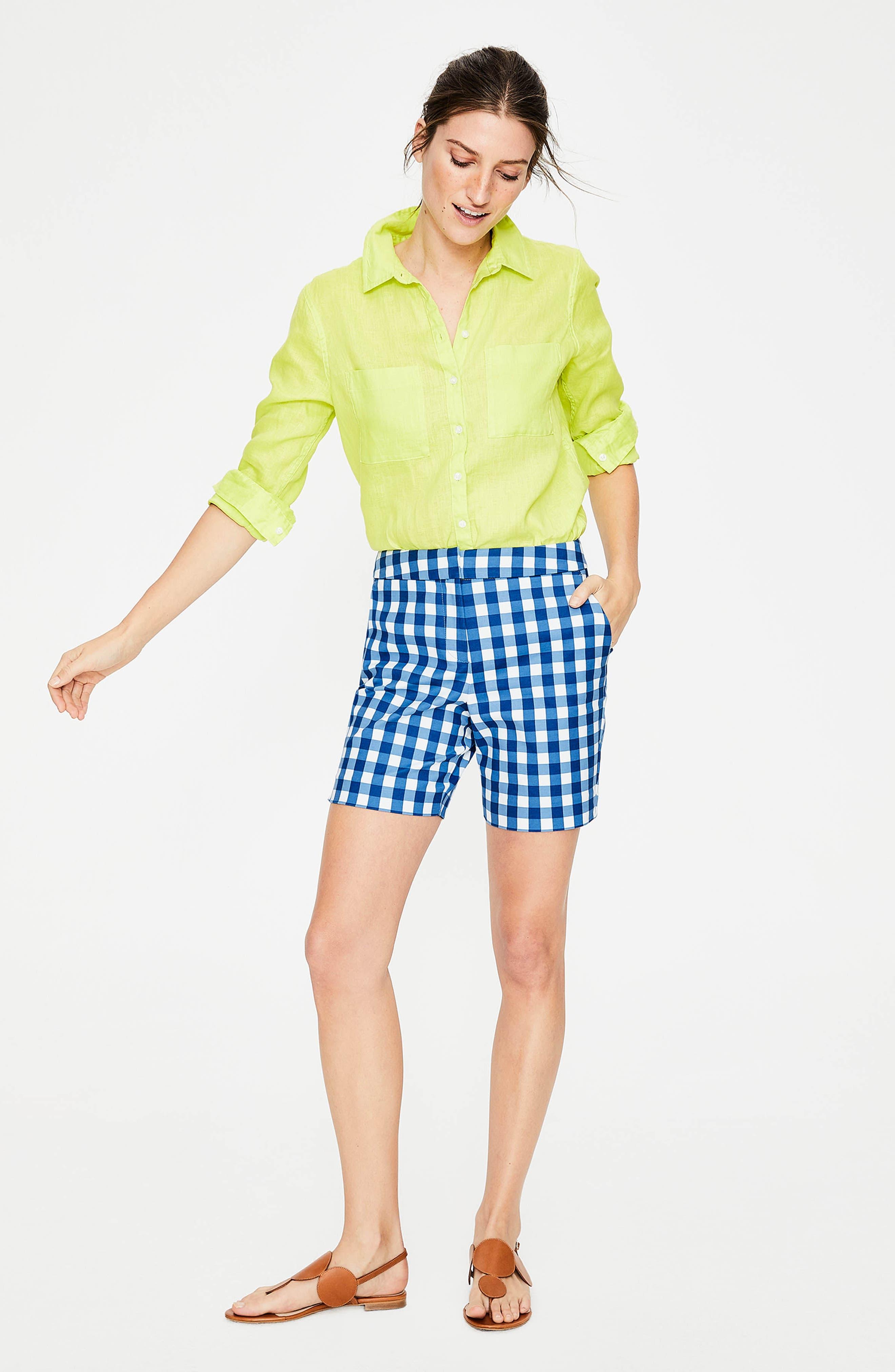 Richmond Check Shorts,                             Alternate thumbnail 3, color,                             Riviera Blue Gingham