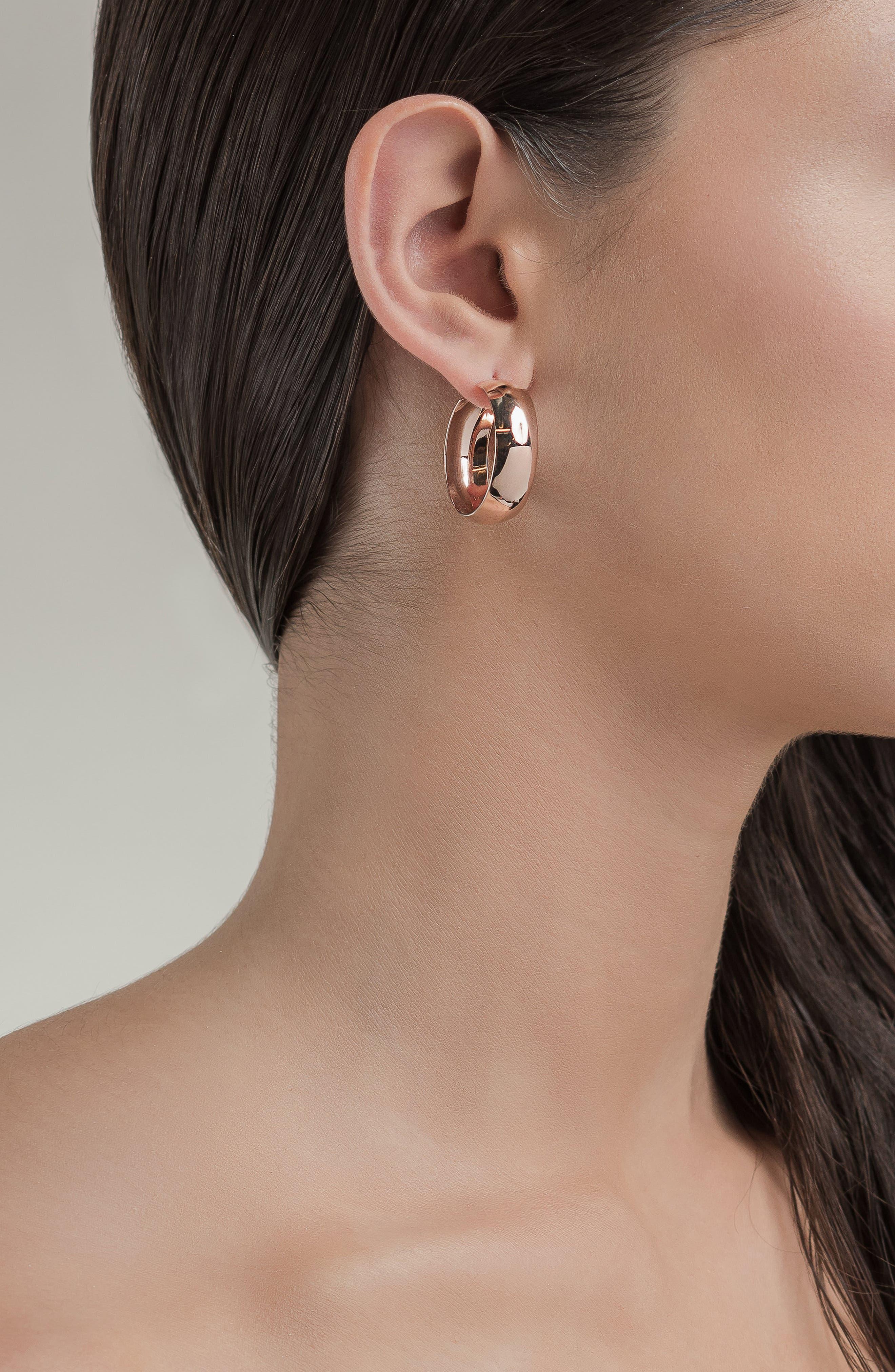 Alternate Image 2  - Lana Jewelry Curve Wide Bubble Hoop Earrings