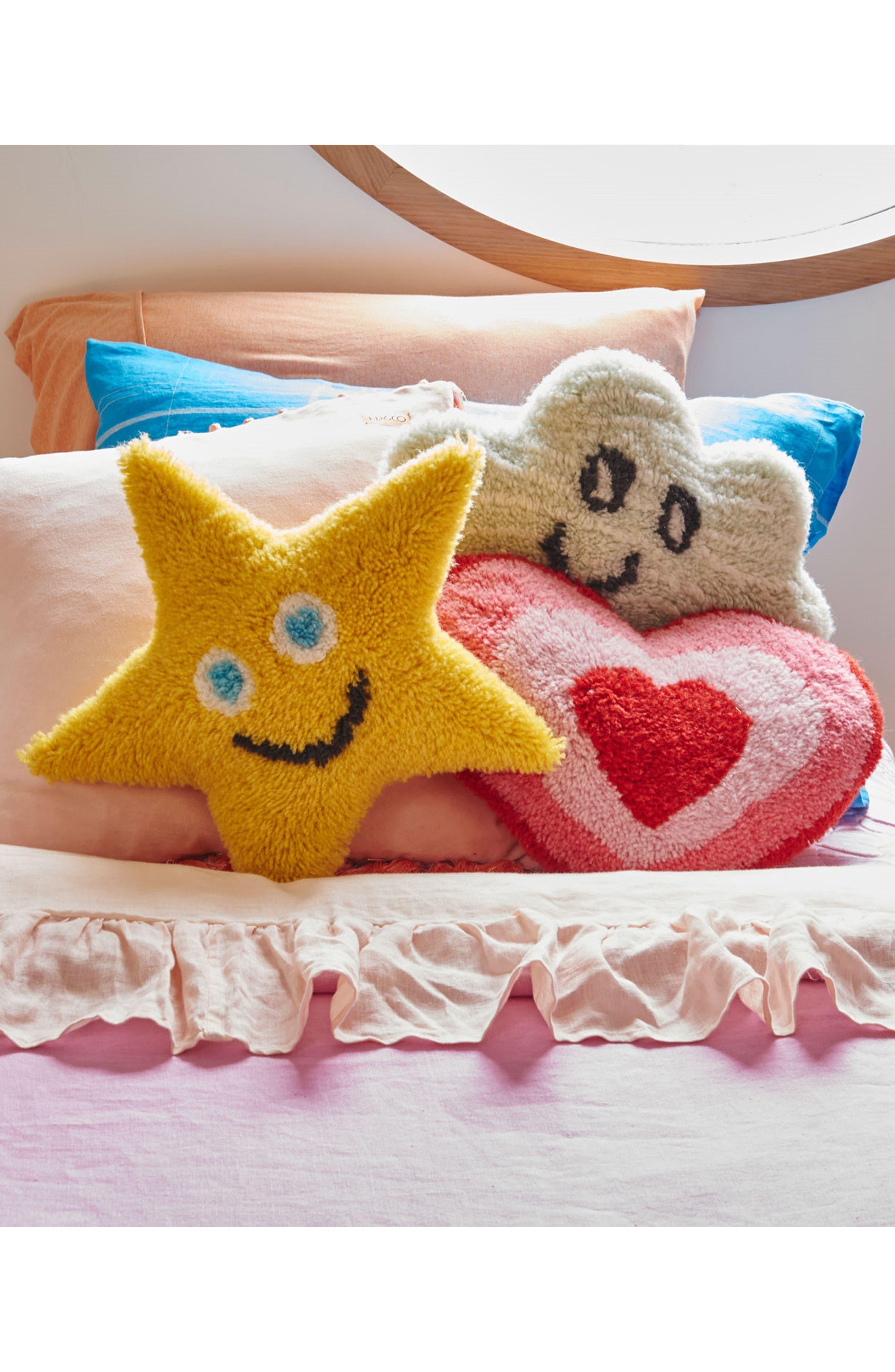Ruffle Reversible Linen Comforter,                             Alternate thumbnail 3, color,                             Multi
