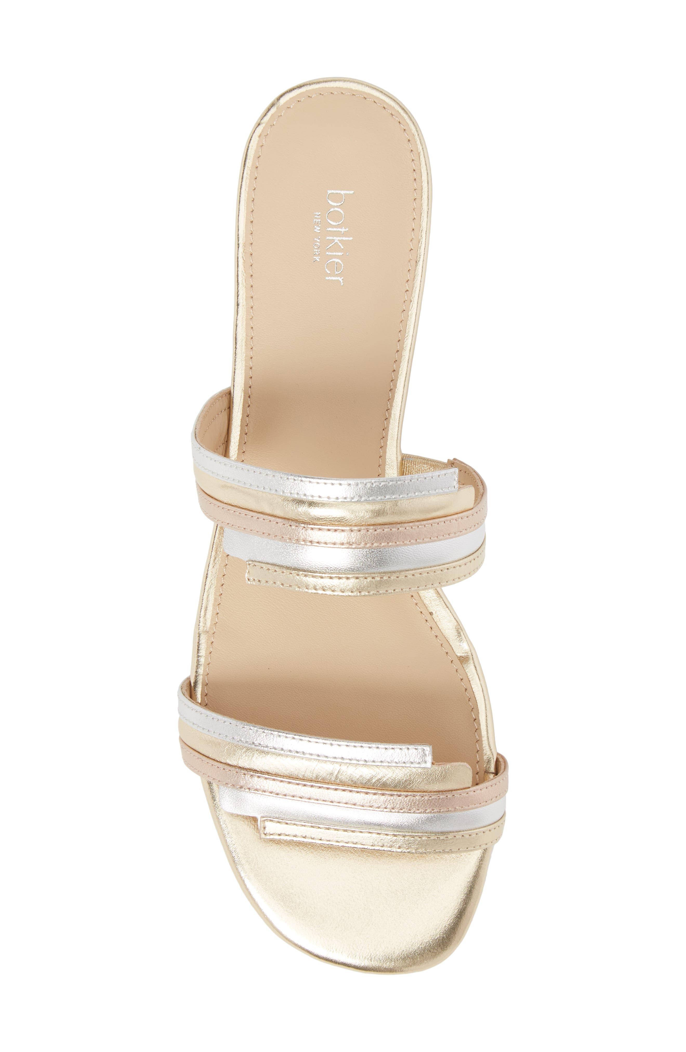 Maise Slide Sandal,                             Alternate thumbnail 5, color,                             Ivory Multi Leather