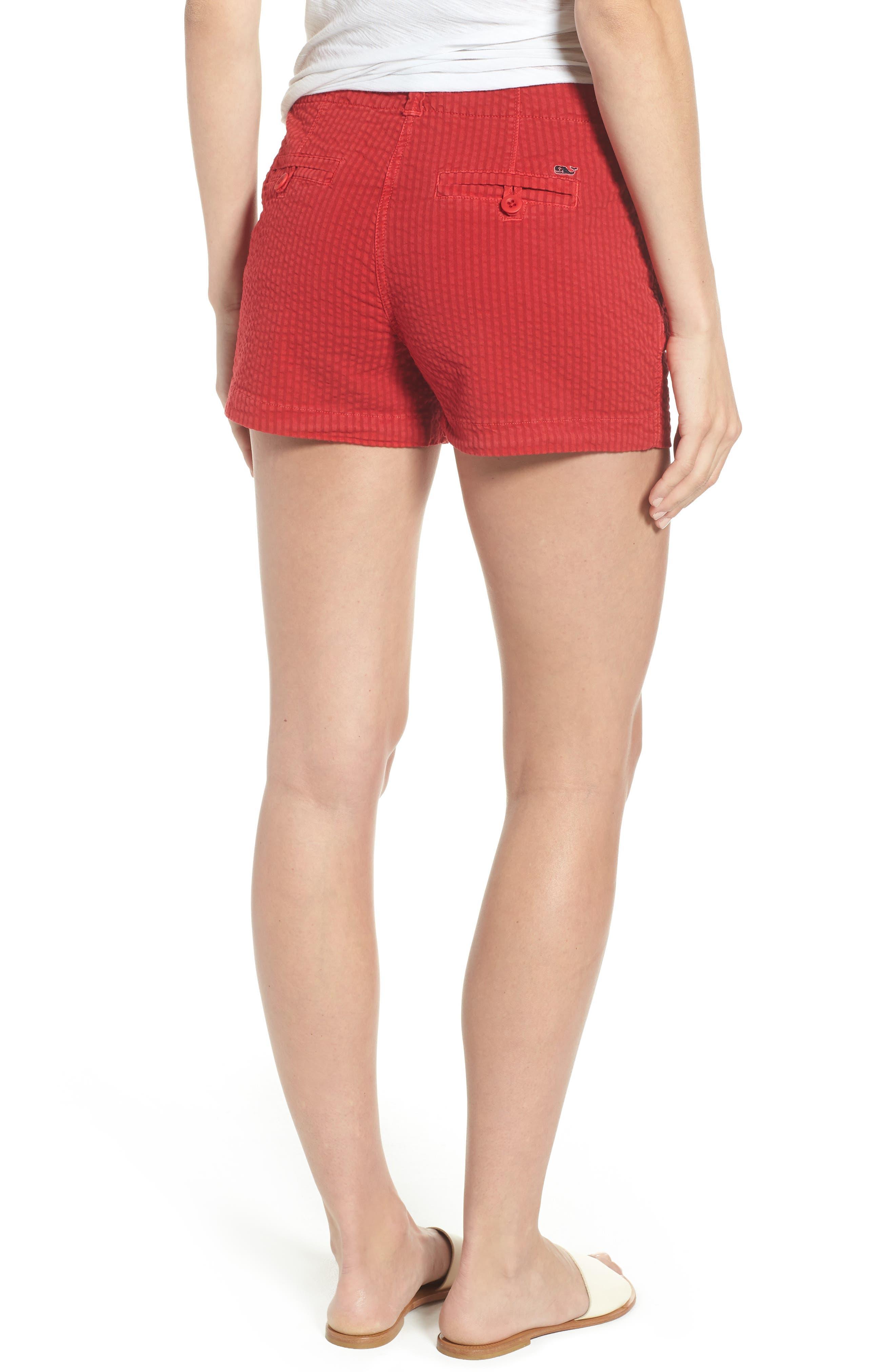 Everyday Seersucker Shorts,                             Alternate thumbnail 2, color,                             Red Velvet