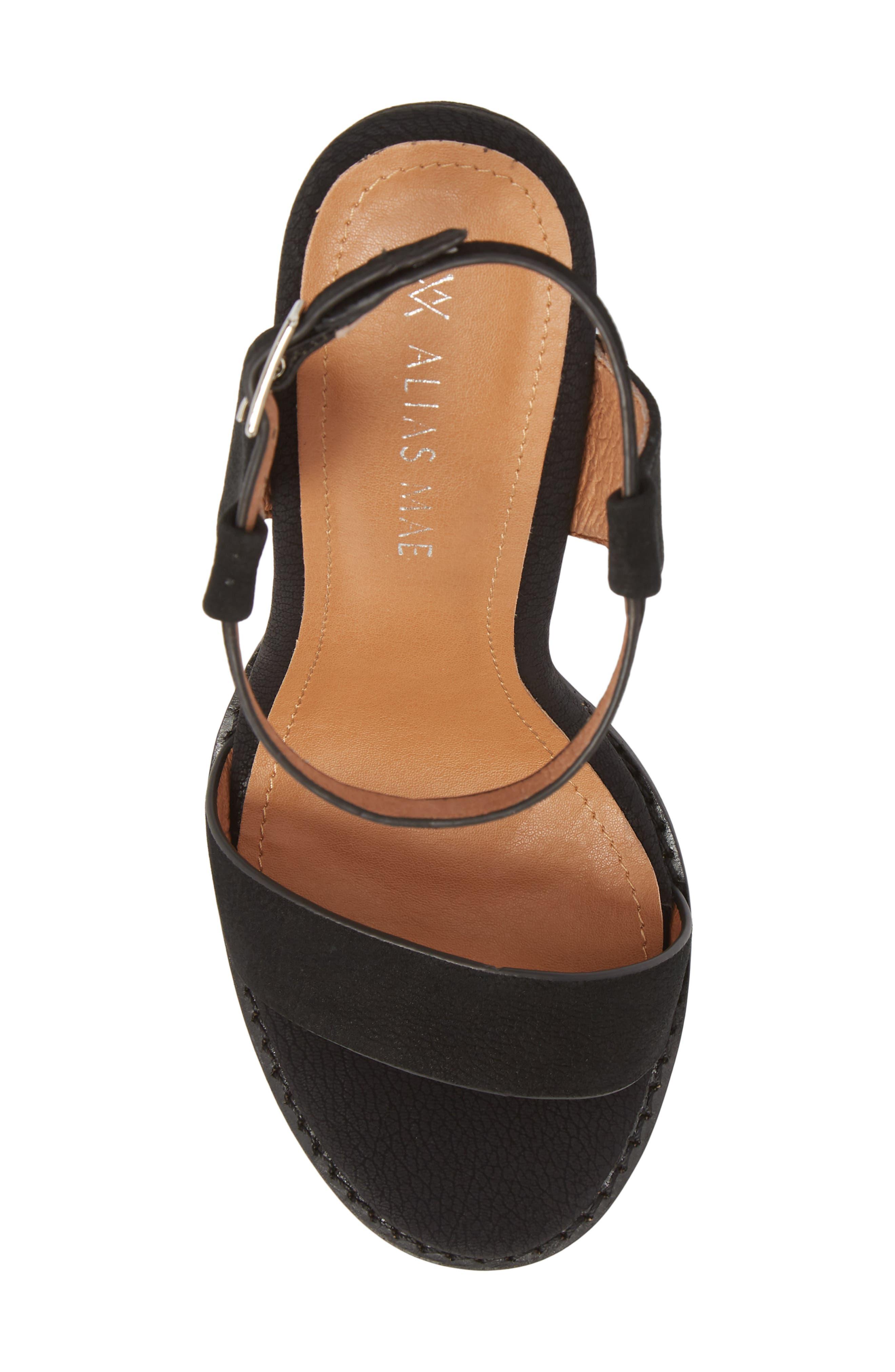 Jynk Sandal,                             Alternate thumbnail 5, color,                             Black Leather