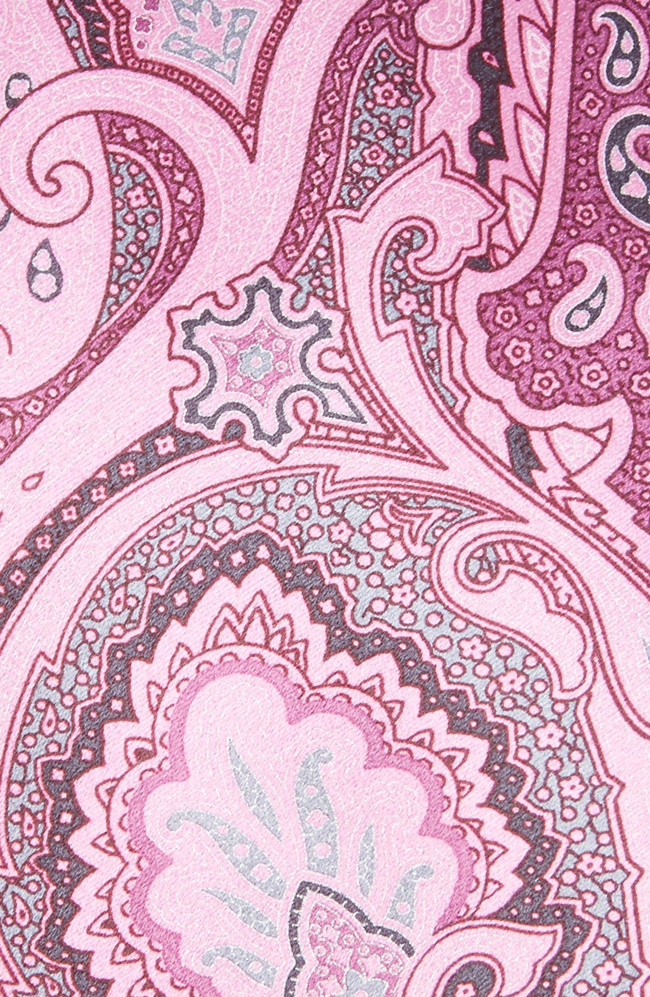 Paisley Silk Tie,                             Alternate thumbnail 2, color,                             Pink