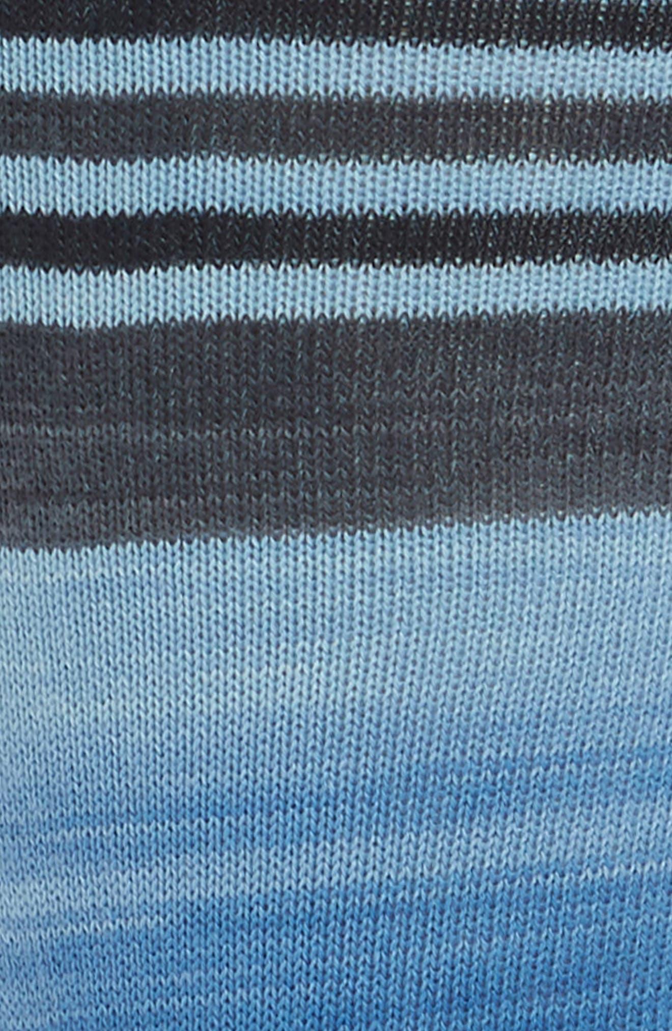 Space Dye Striped Socks,                             Alternate thumbnail 2, color,                             Royal Blue