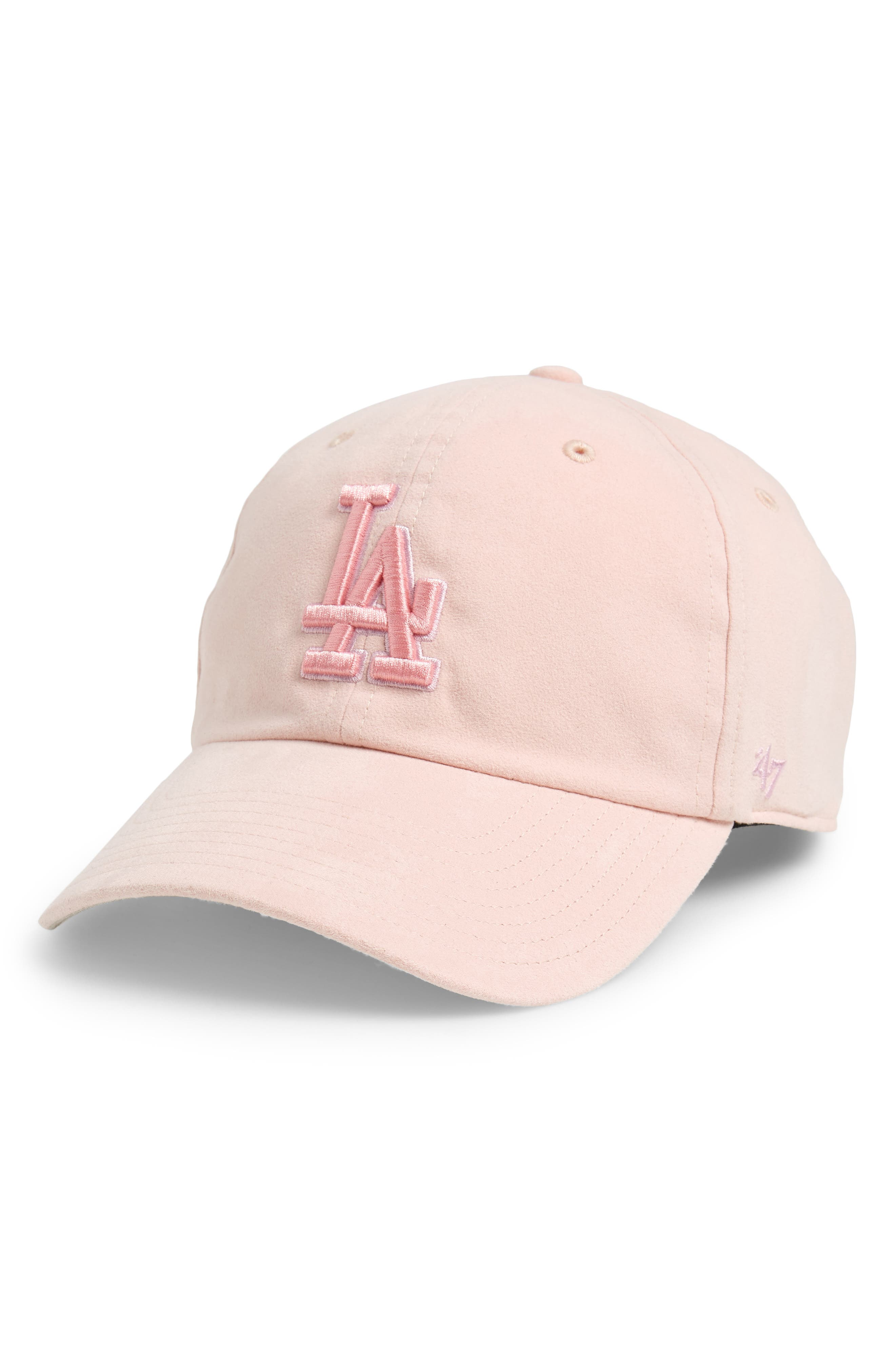 Ultrabasic Clean Up Los Angeles Dodgers Baseball Cap,                         Main,                         color, Pink
