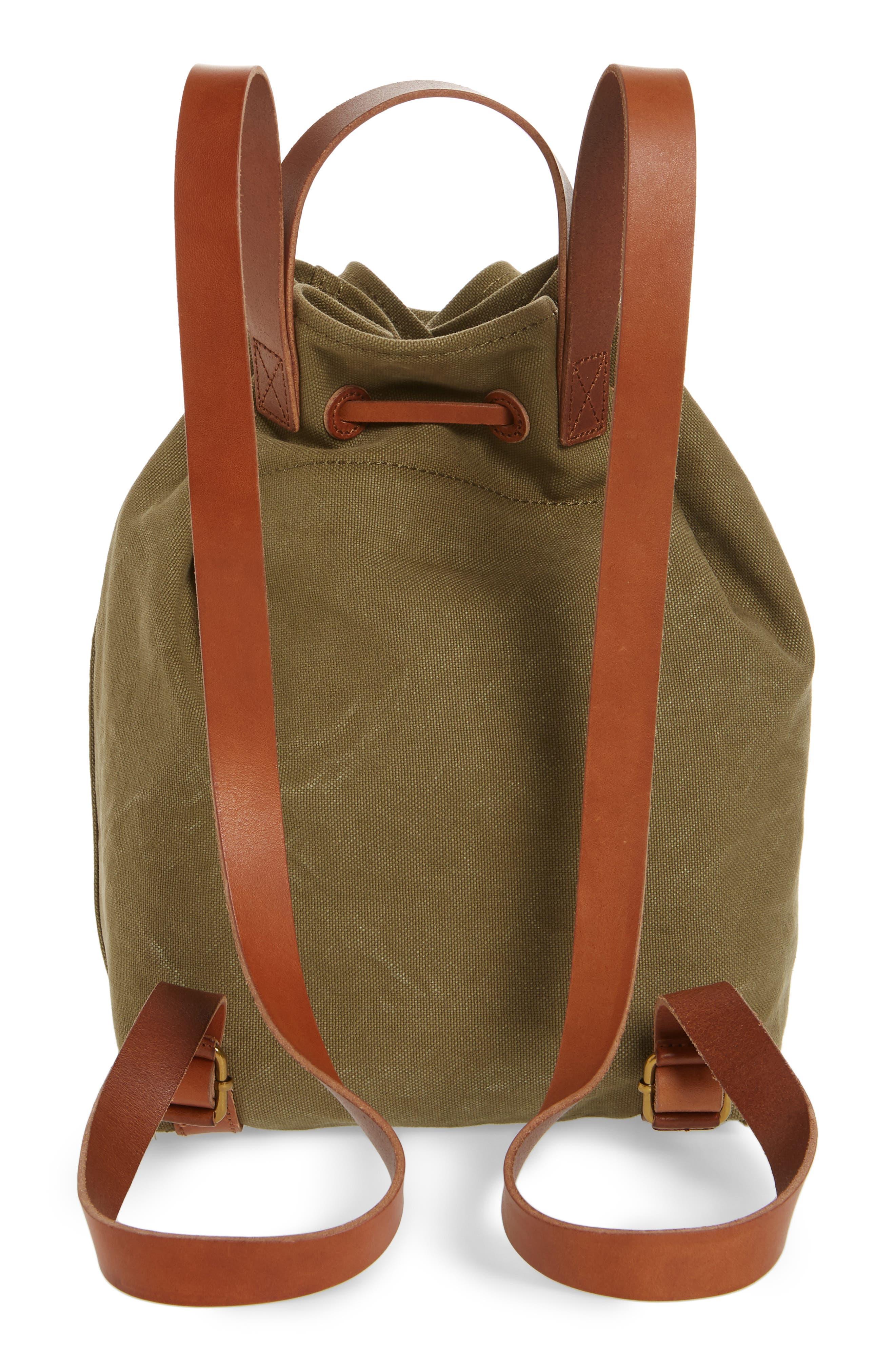 Somerset Canvas Backpack,                             Alternate thumbnail 3, color,                             British Surplus