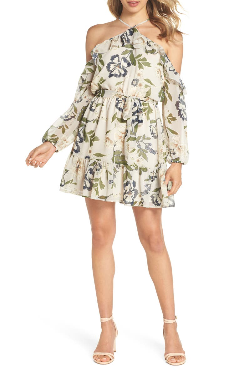 Call Me Maybe Floral Cold Shoulder Dress