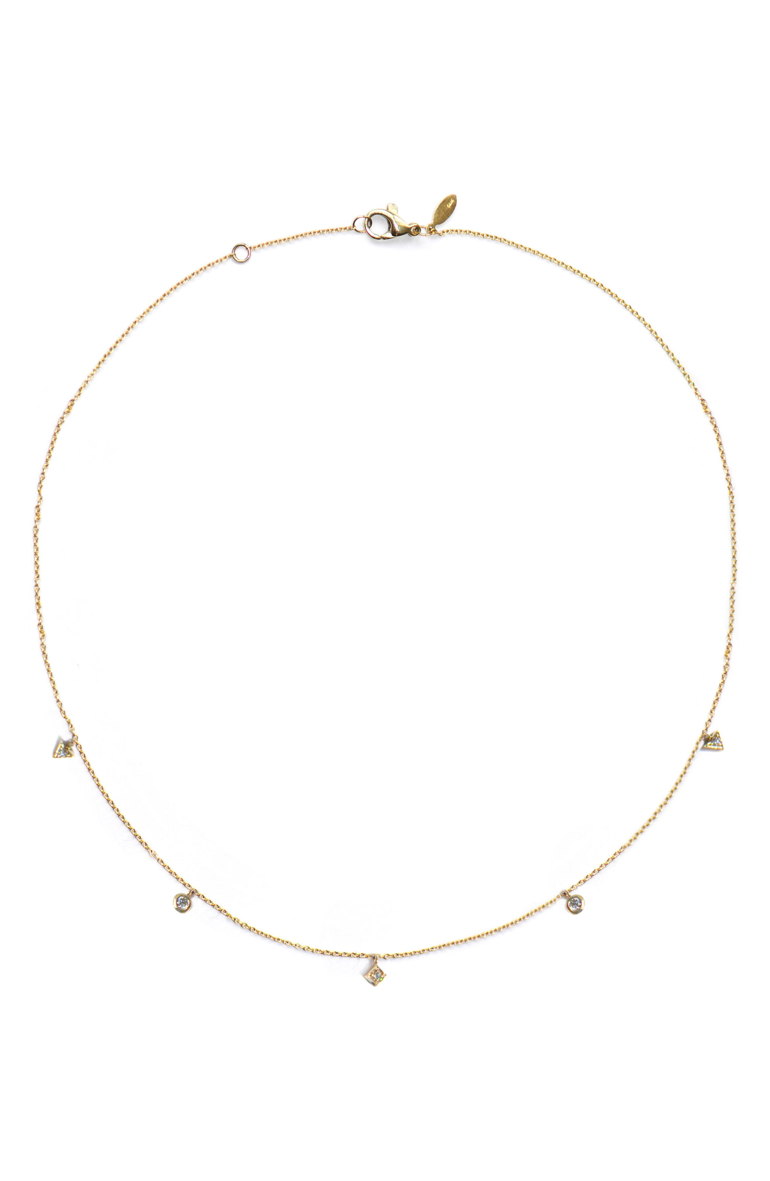 Cleo Dangling Shapes Necklace,                         Main,                         color, Gold
