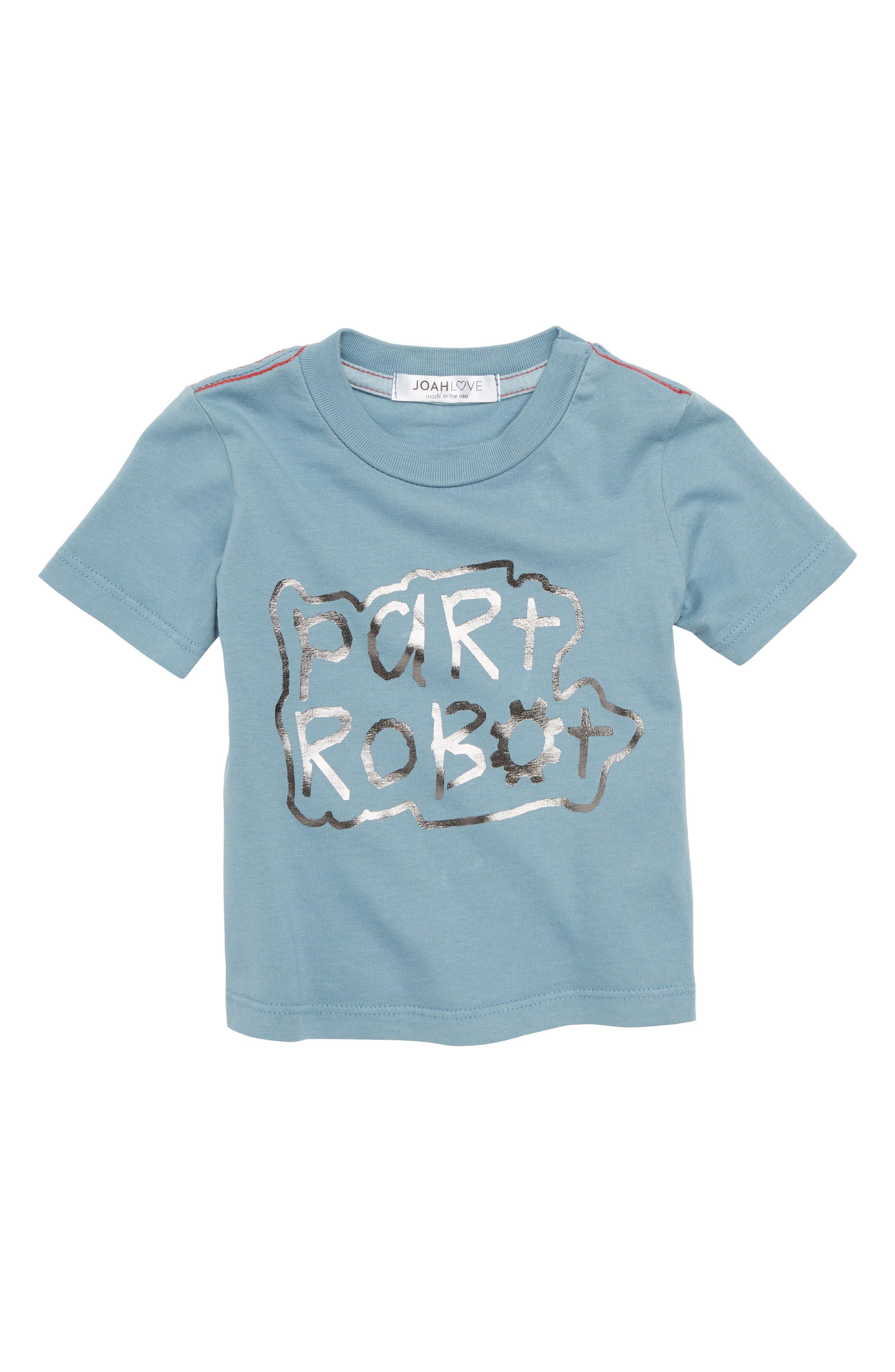 Part Robot T-Shirt,                             Main thumbnail 1, color,                             Lake