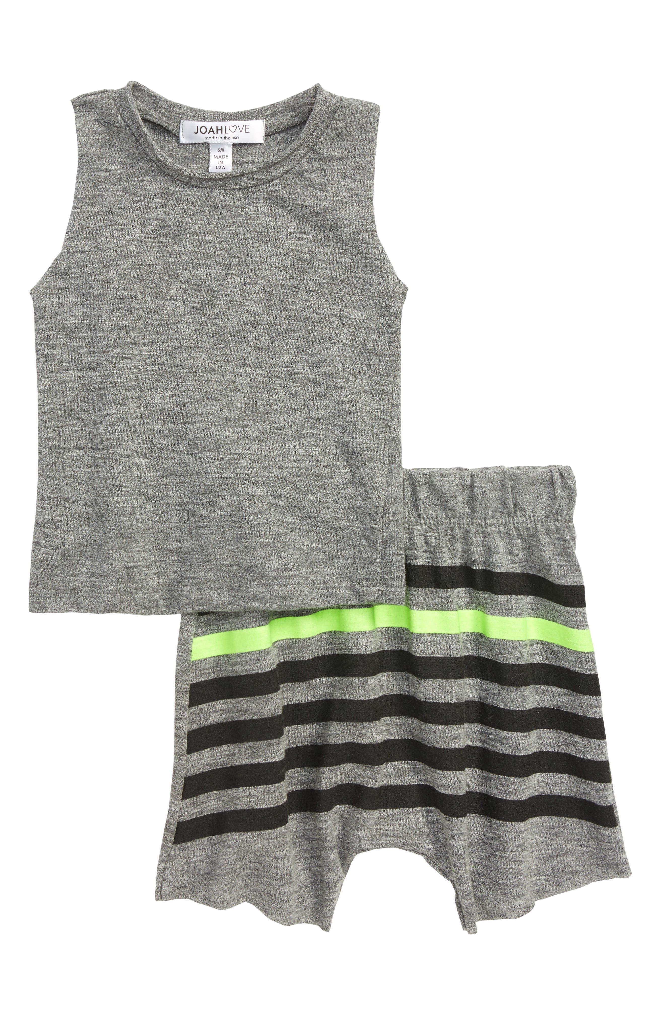 Tank & Shorts Set,                             Main thumbnail 1, color,                             Grey