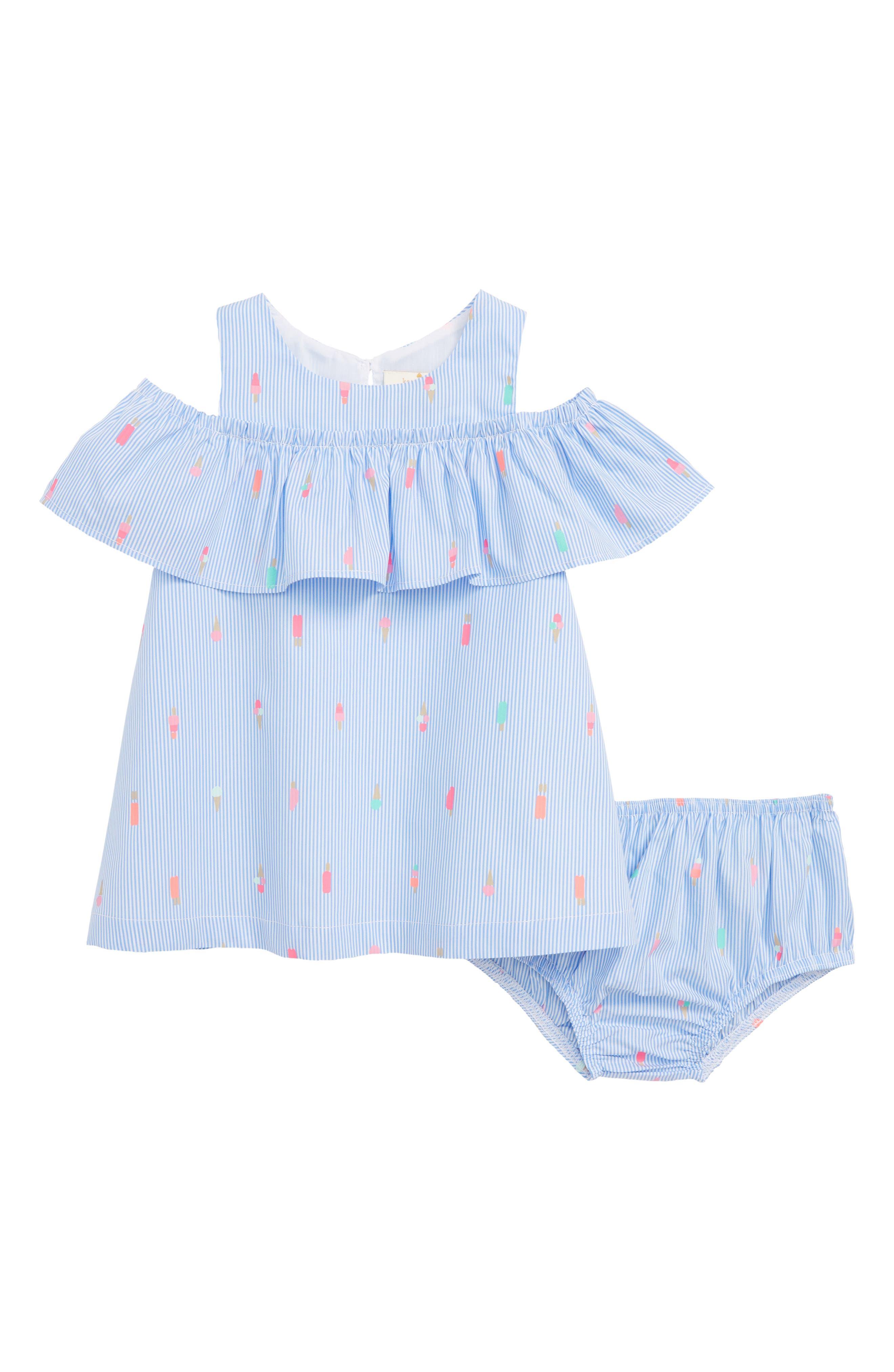mini ice pops cold shoulder dress,                         Main,                         color, Blue Bonnet/ Fresh