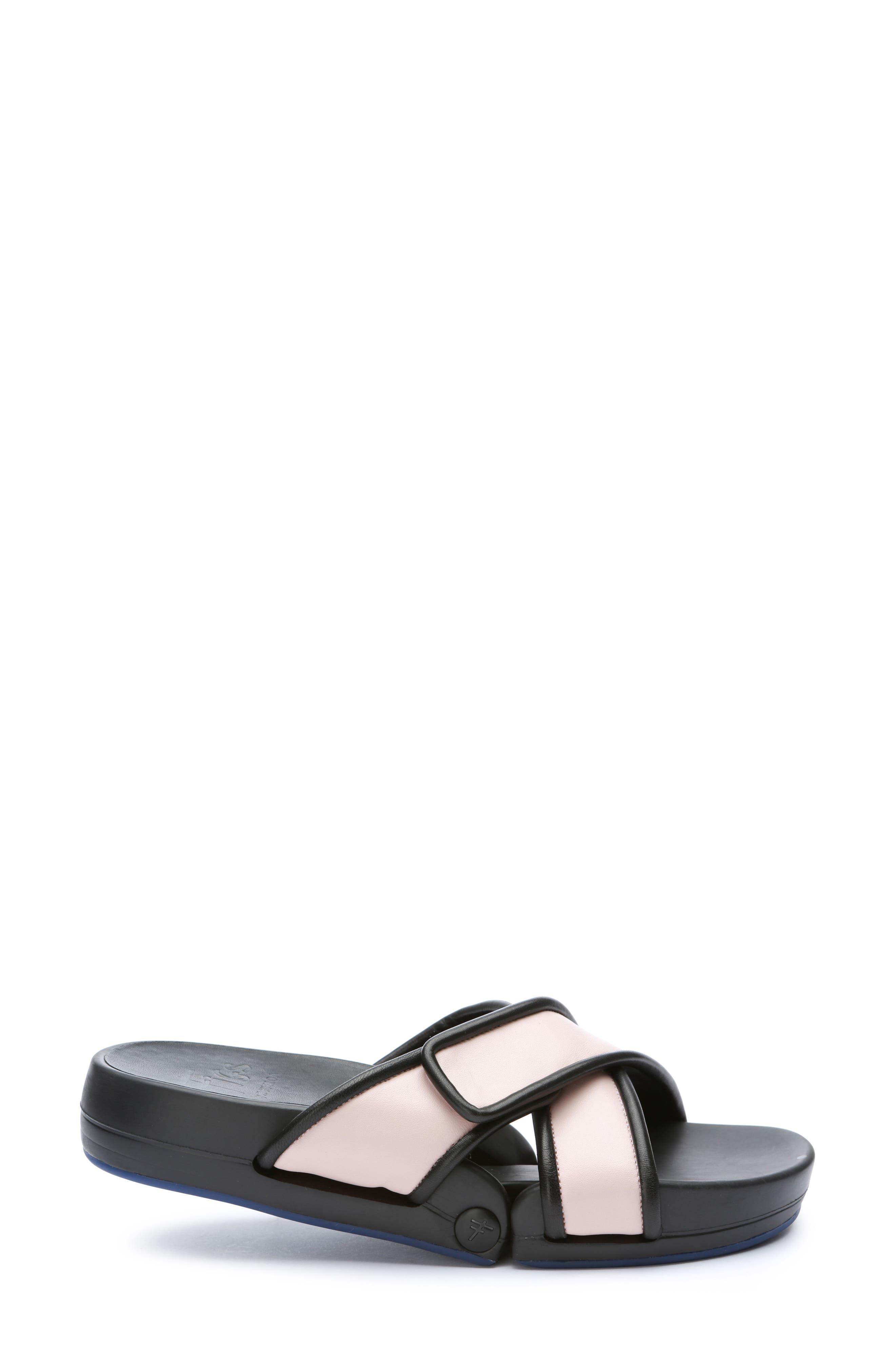 Figomatic Slide Sandal,                             Alternate thumbnail 2, color,                             Pink Nappa Leather