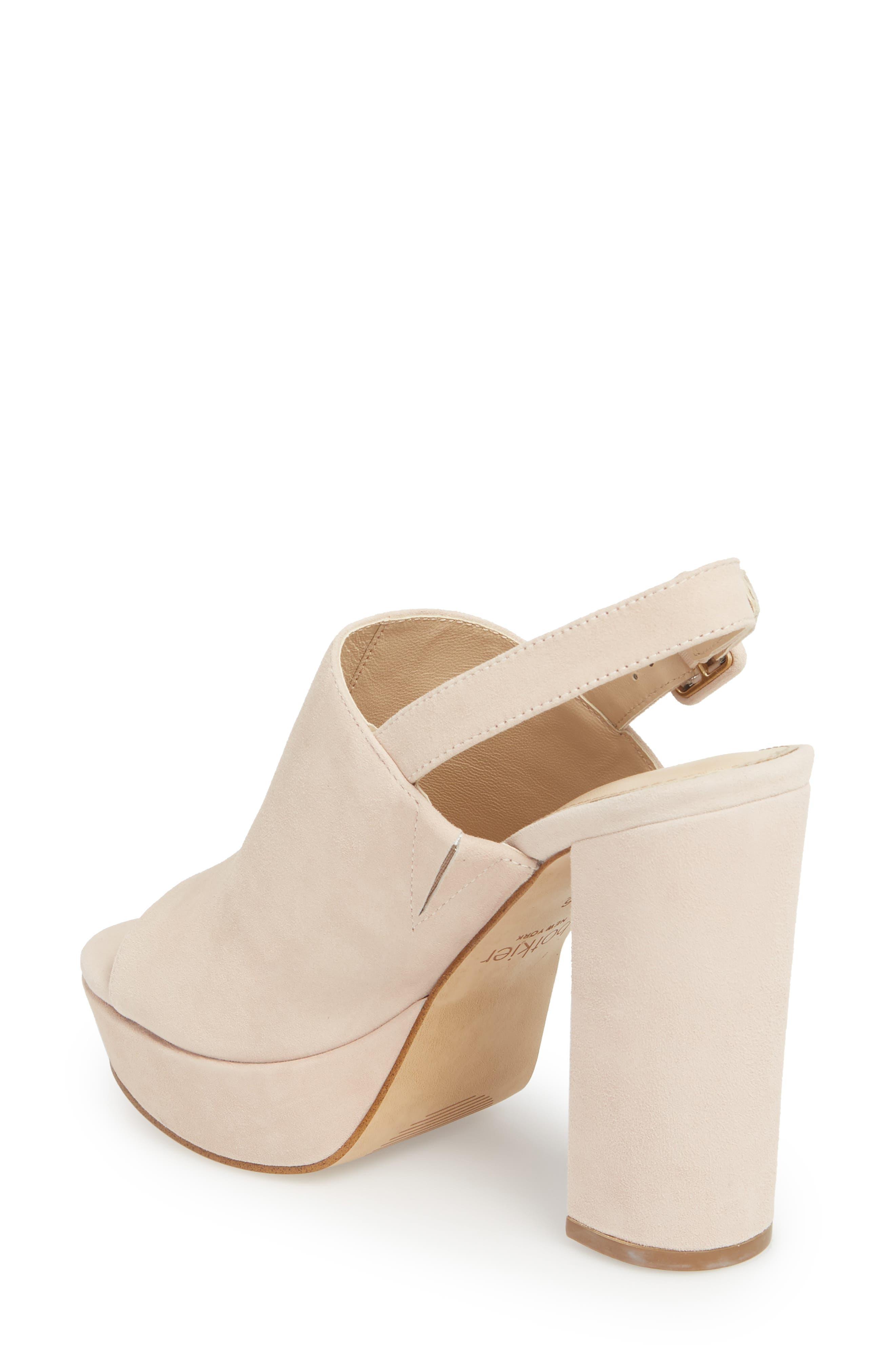 Jolene Platform Sandal,                             Alternate thumbnail 2, color,                             Blush Suede