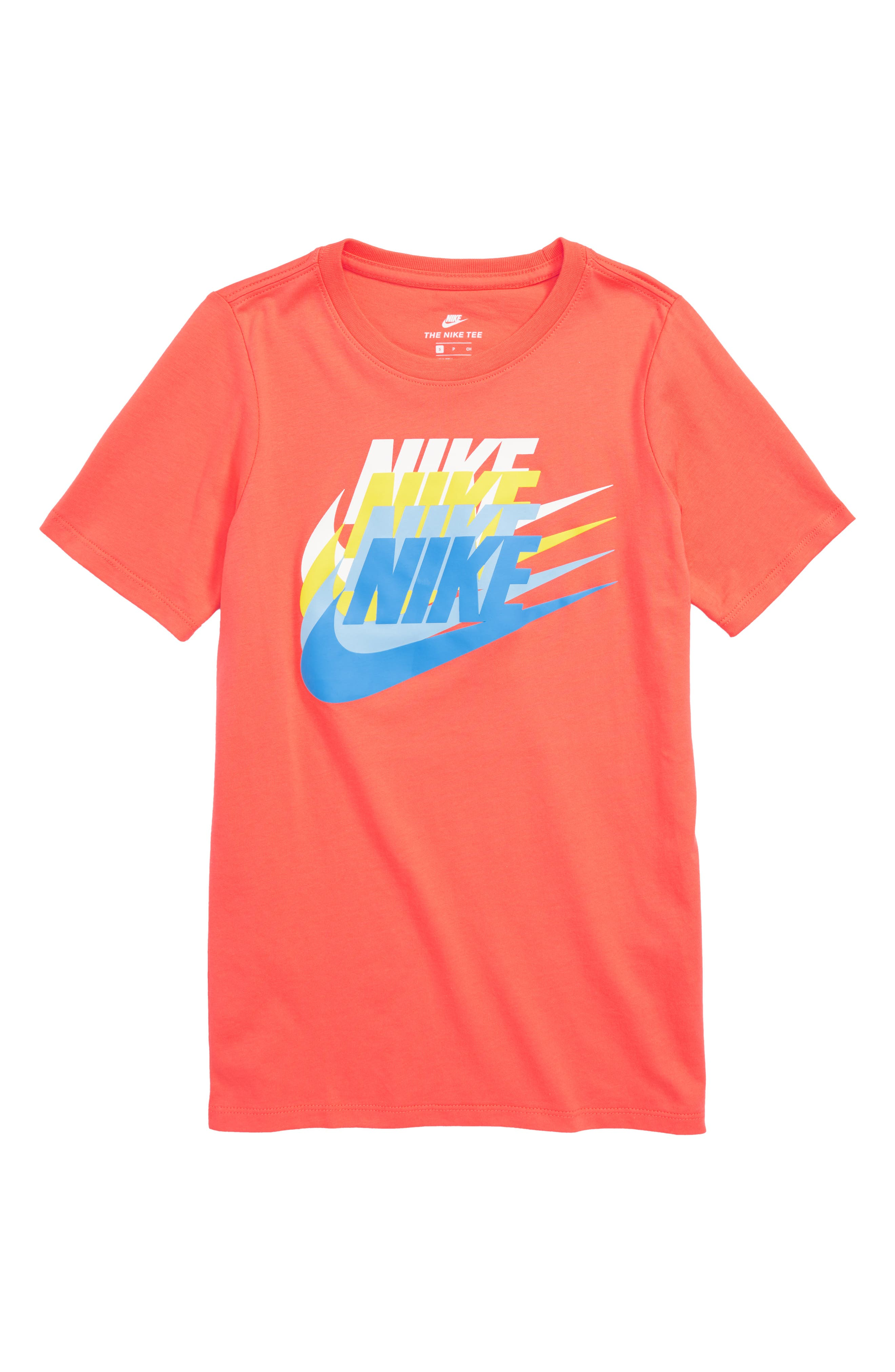 Sportswear Sunset Future Graphic T-Shirt,                             Main thumbnail 1, color,                             Rush Coral