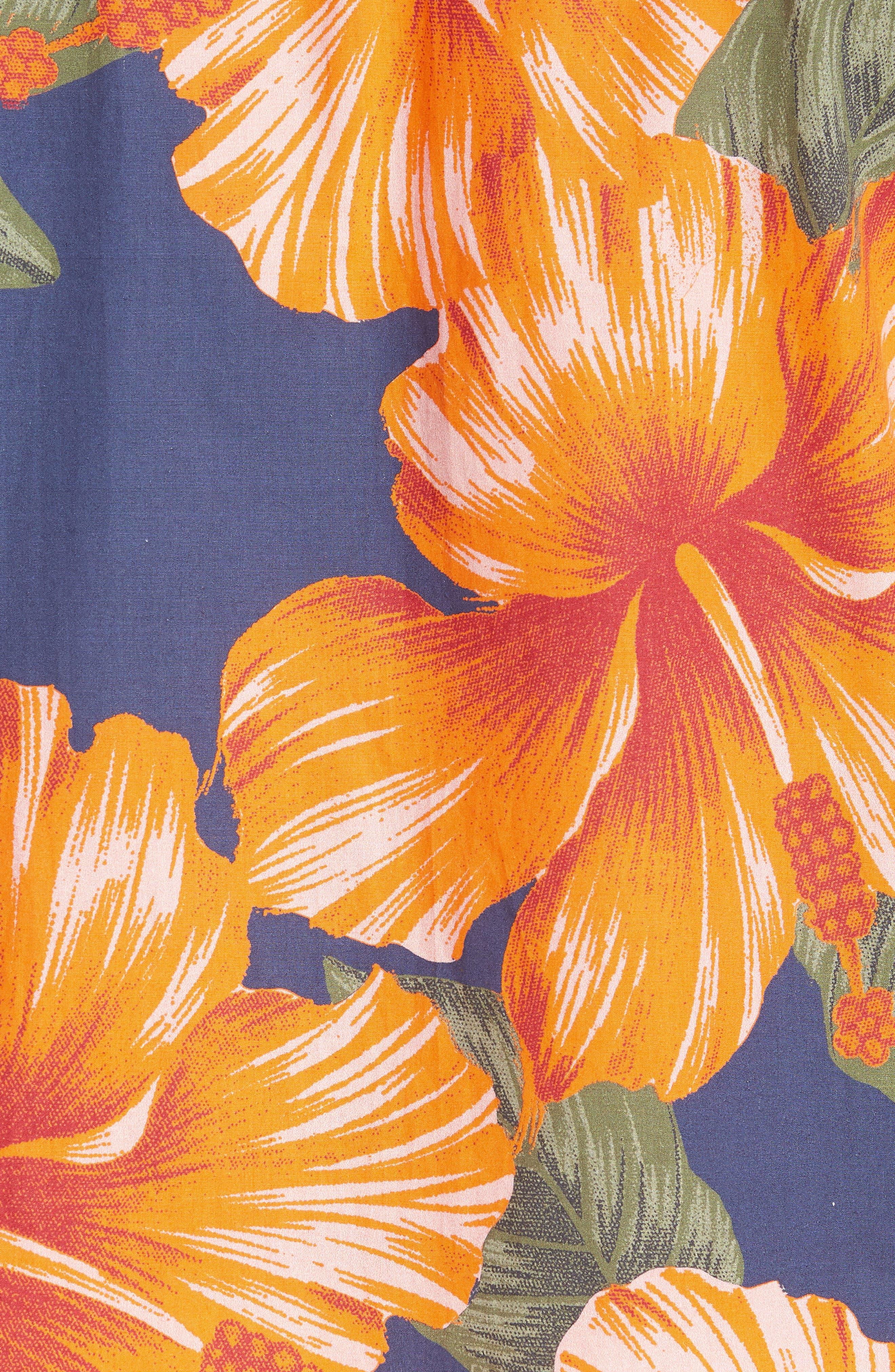 Wela Regular Fit Hawaiian Camp Shirt,                             Alternate thumbnail 3, color,                             Deep Cobalt