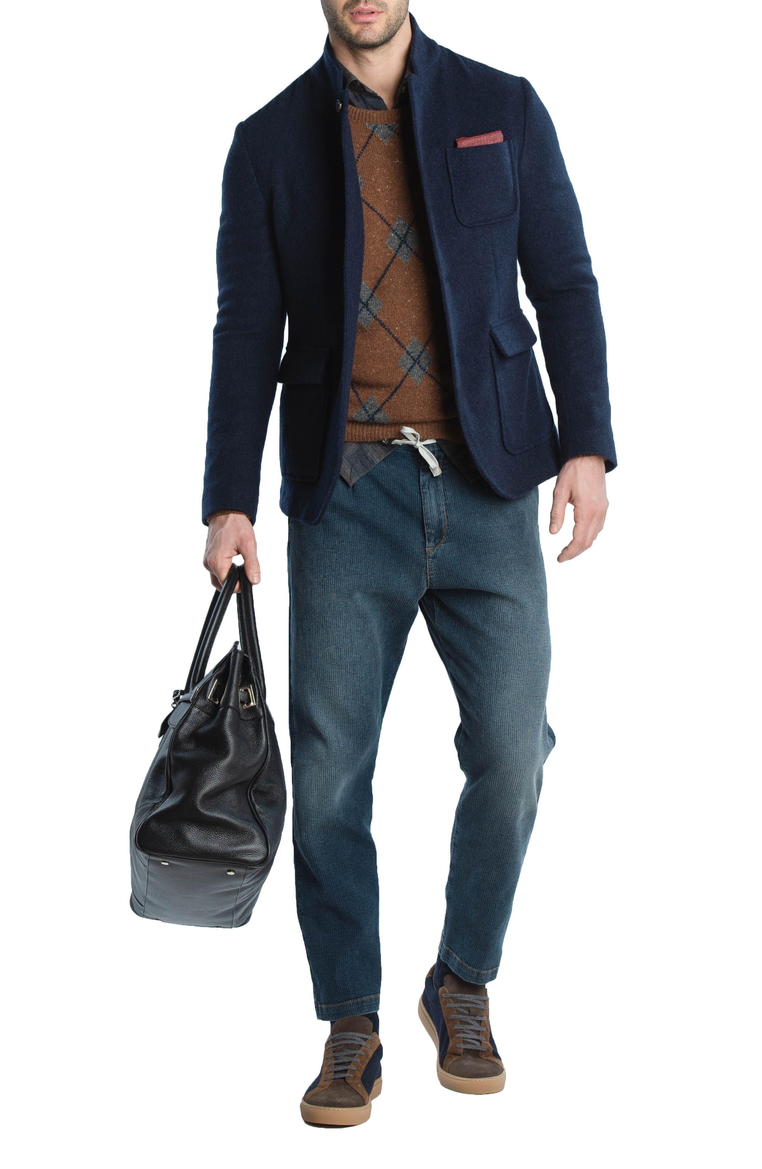 Slim Fit Plaid Western Shirt,                             Alternate thumbnail 5, color,                             Grey/ Brown