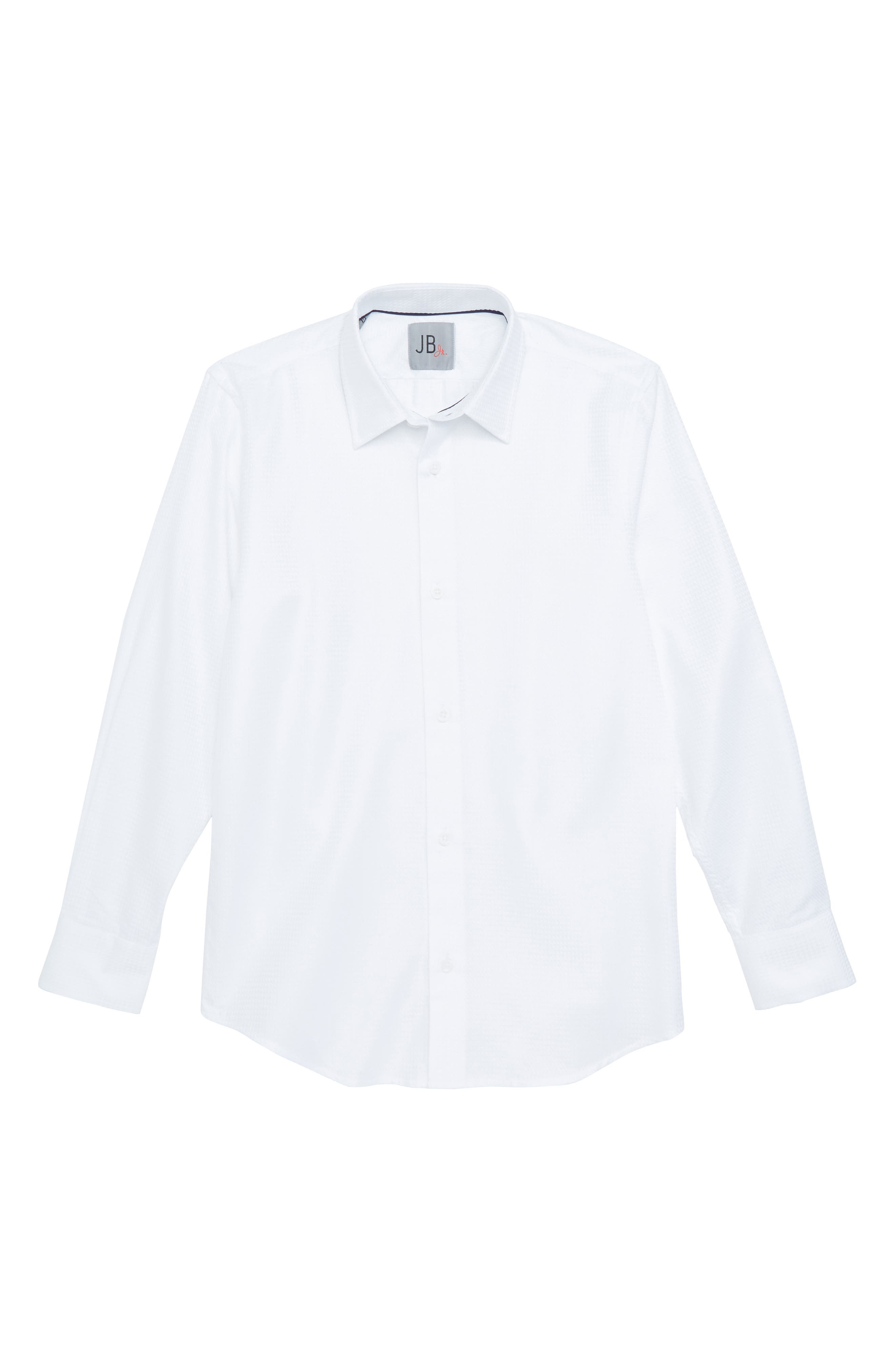 JB Jr Solid Dress Shirt (Big Boys)