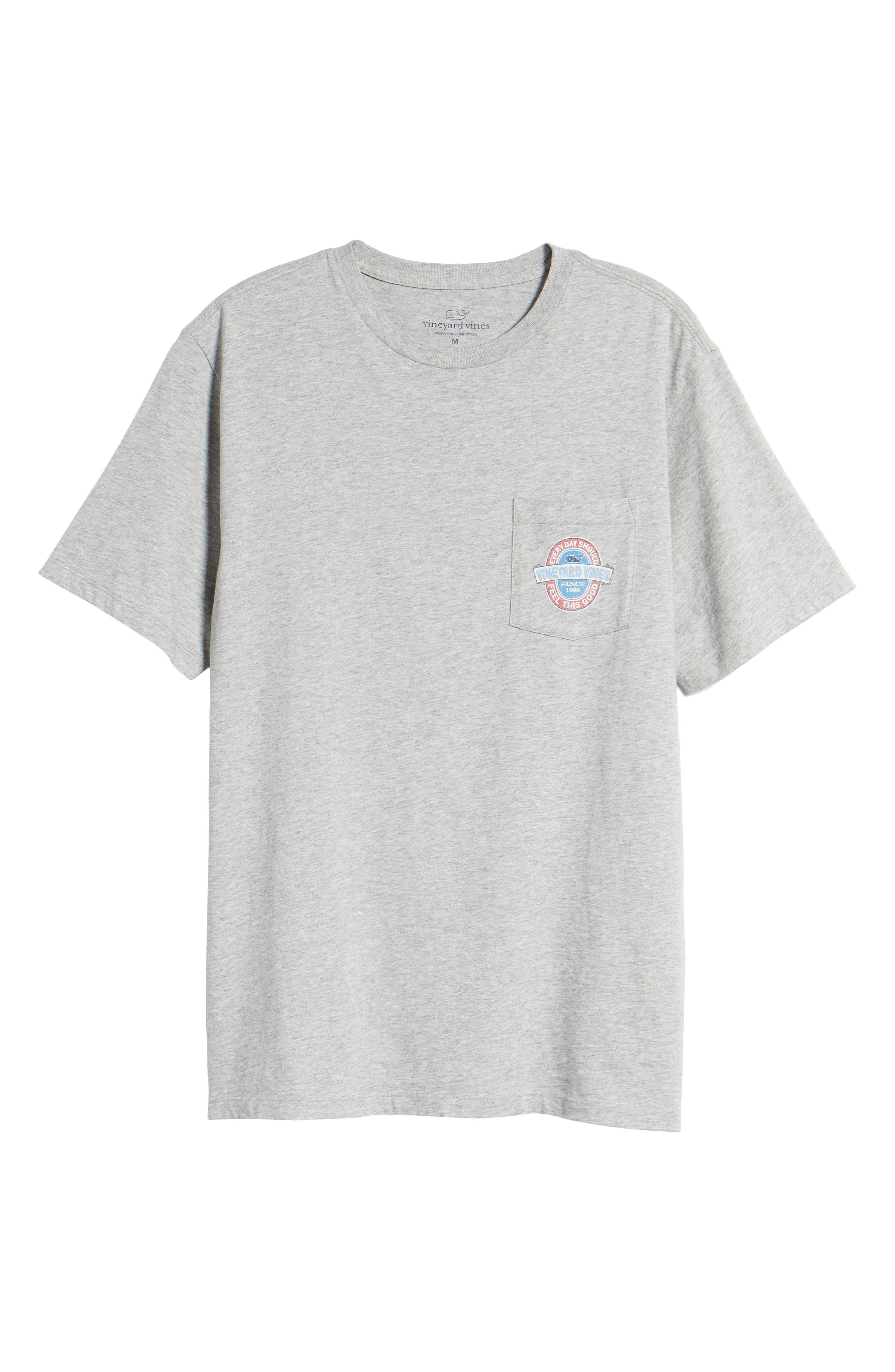 Everyday Pocket T-Shirt,                             Alternate thumbnail 6, color,                             Grey Heather