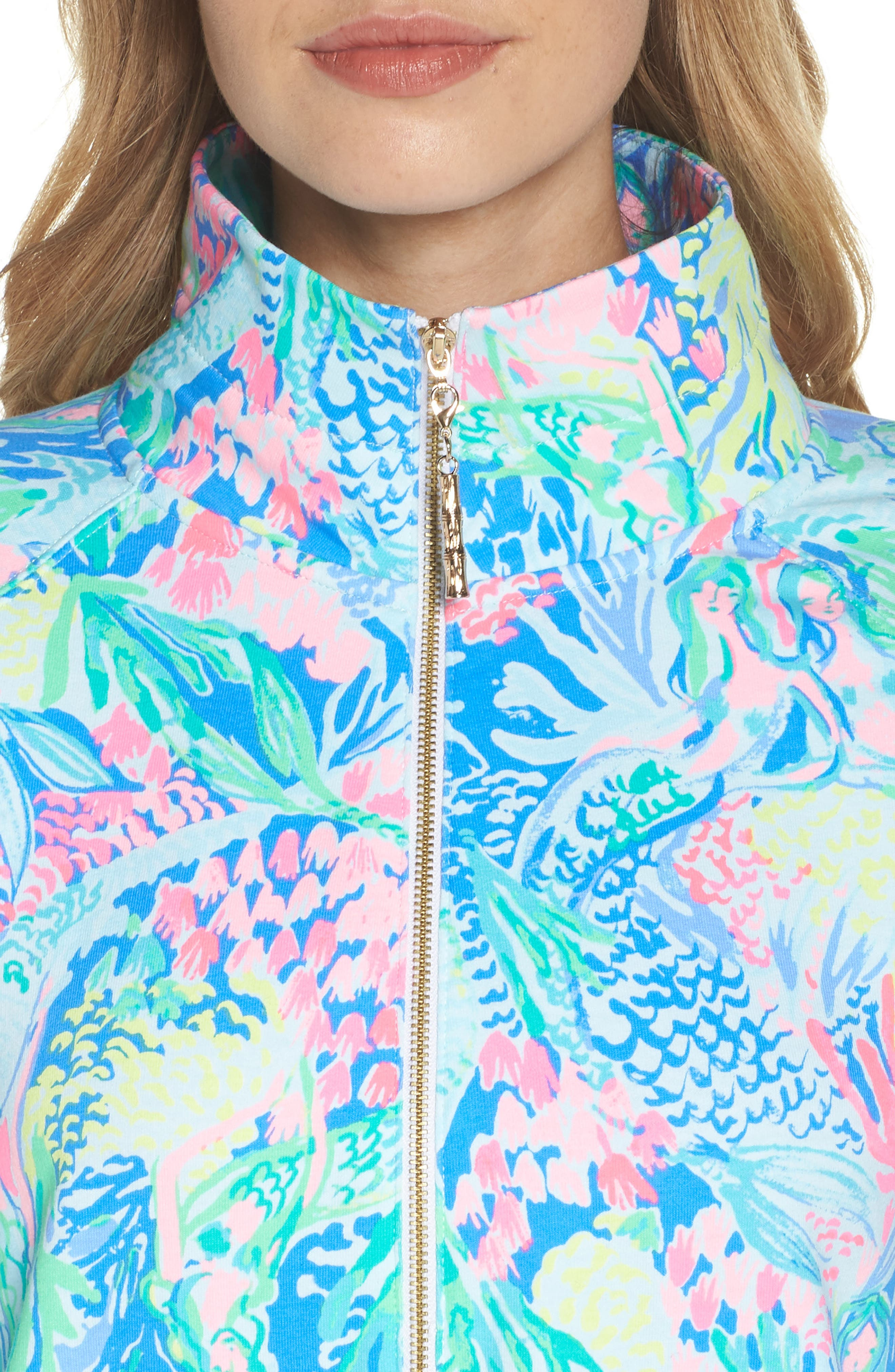 Lilly Pulitzer Skipper Shift Dress,                             Alternate thumbnail 4, color,                             Multi Mermaids Cove