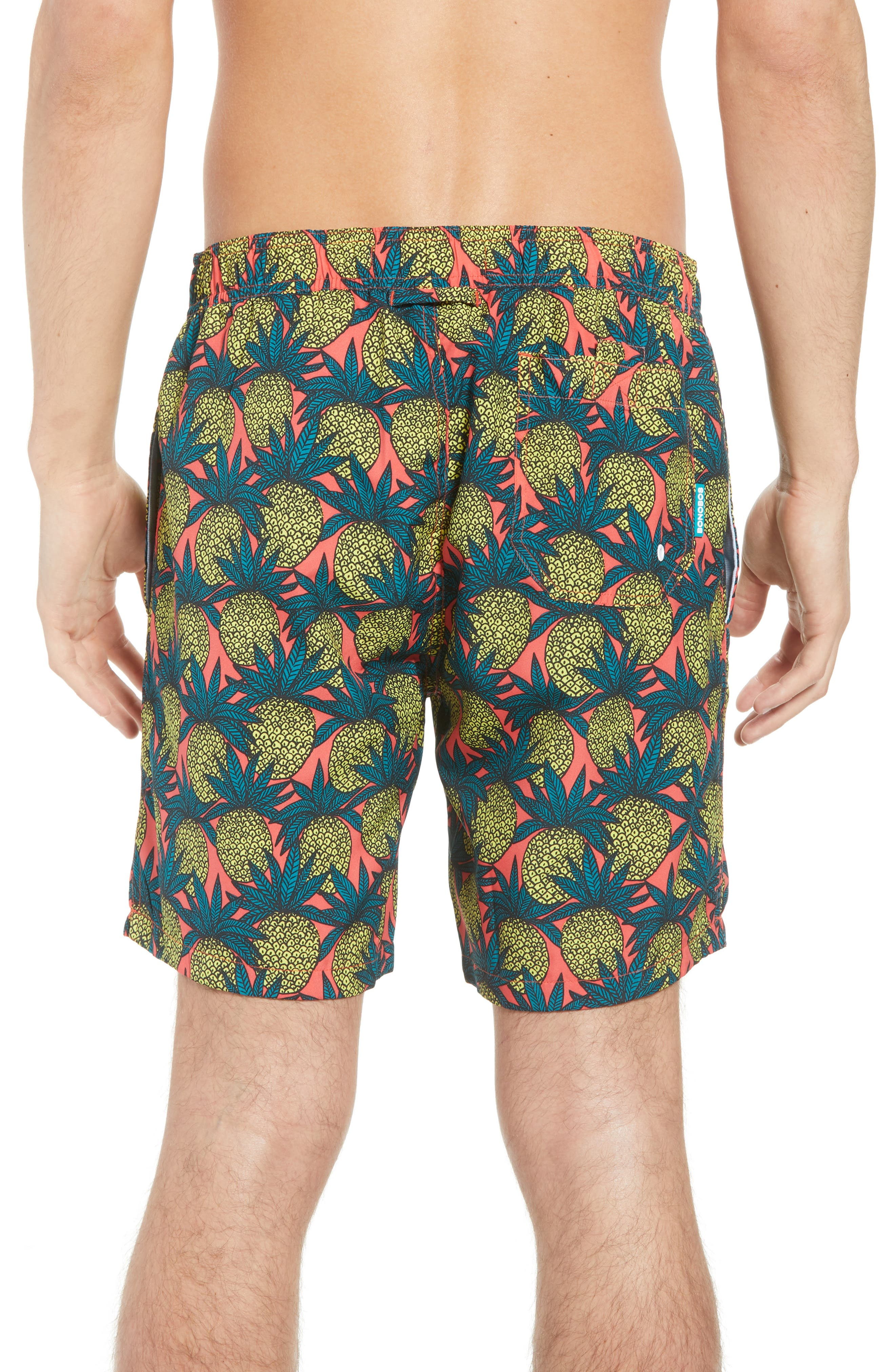 Banzai 7-Inch Swim Trunks,                             Alternate thumbnail 2, color,                             Pineapple Fields