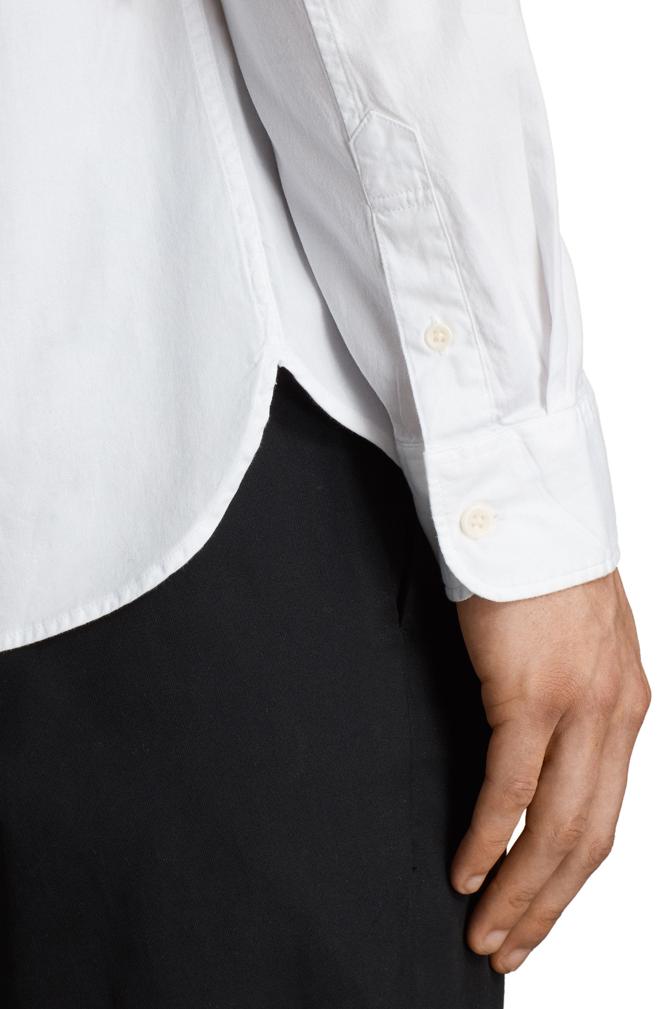 Redondo Slim Fit Shirt,                             Alternate thumbnail 4, color,                             White