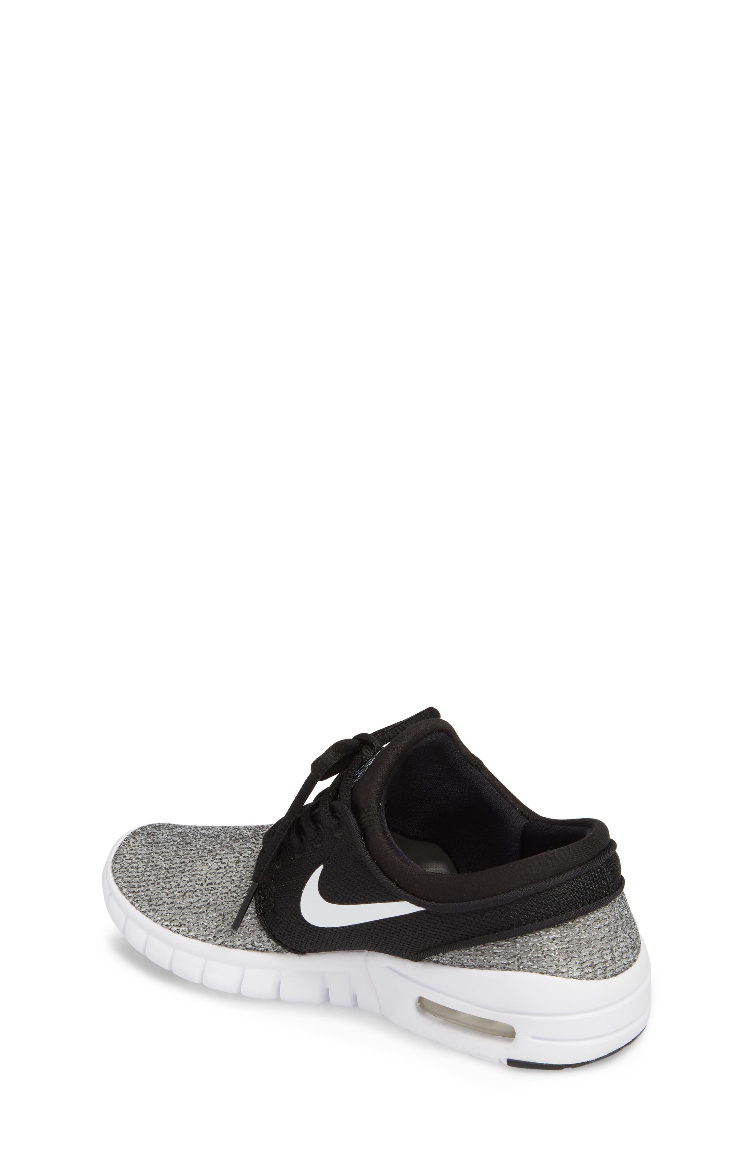Stefan Janoski Max SB Skate Sneaker,                             Alternate thumbnail 2, color,                             Black/ White/ White