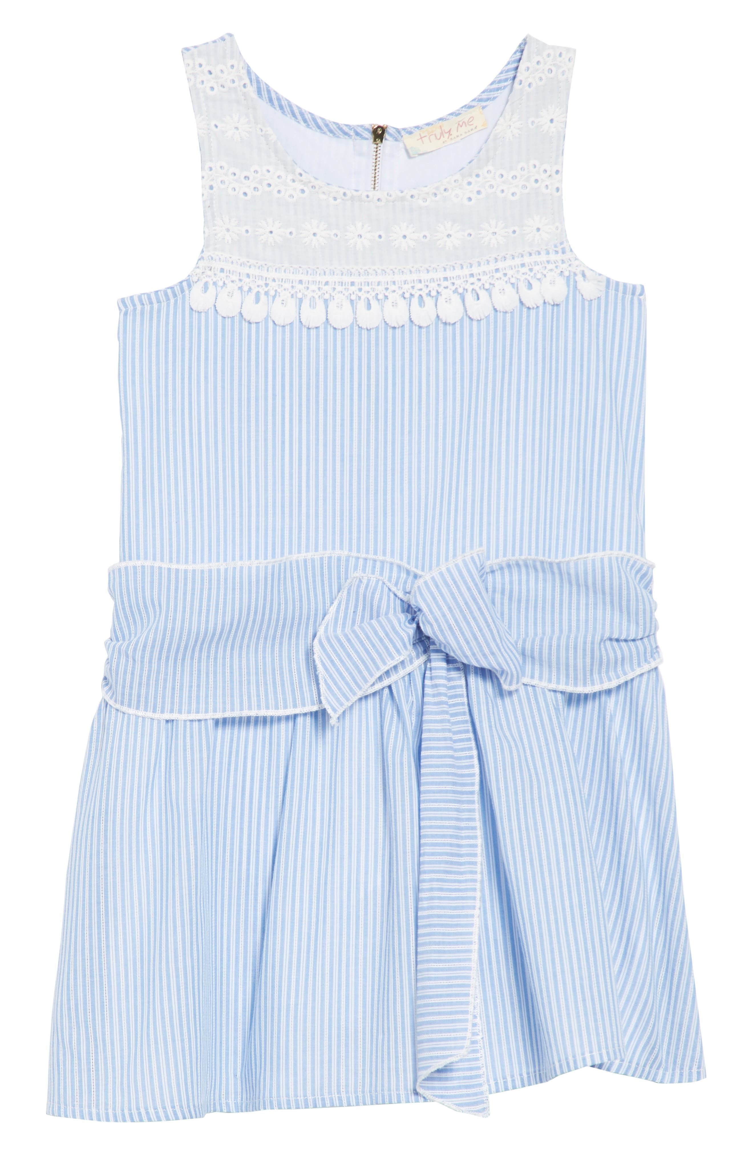 Truly Me Stripe Dress (Toddler Girls & Little Girls)