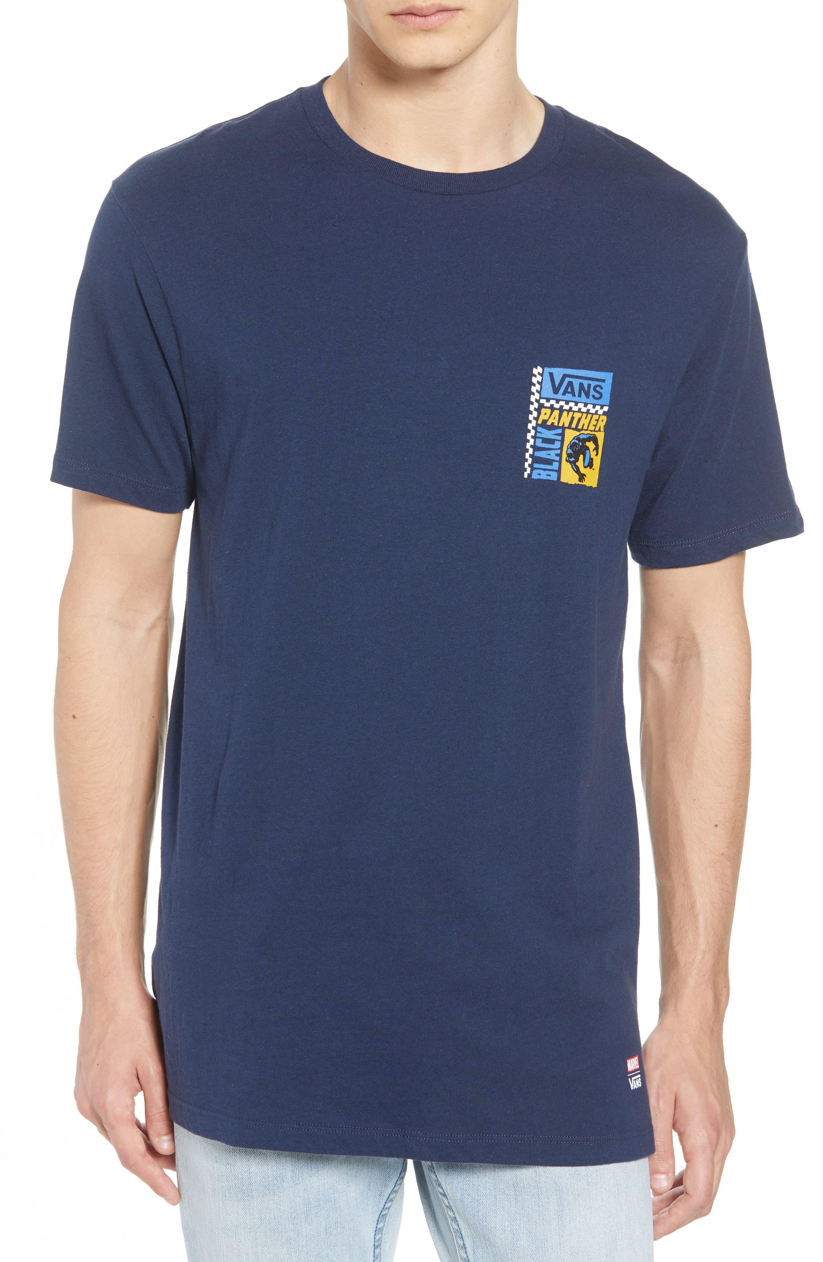 x Marvel<sup>®</sup> Black Panther T-Shirt,                             Main thumbnail 1, color,                             Dress Blues