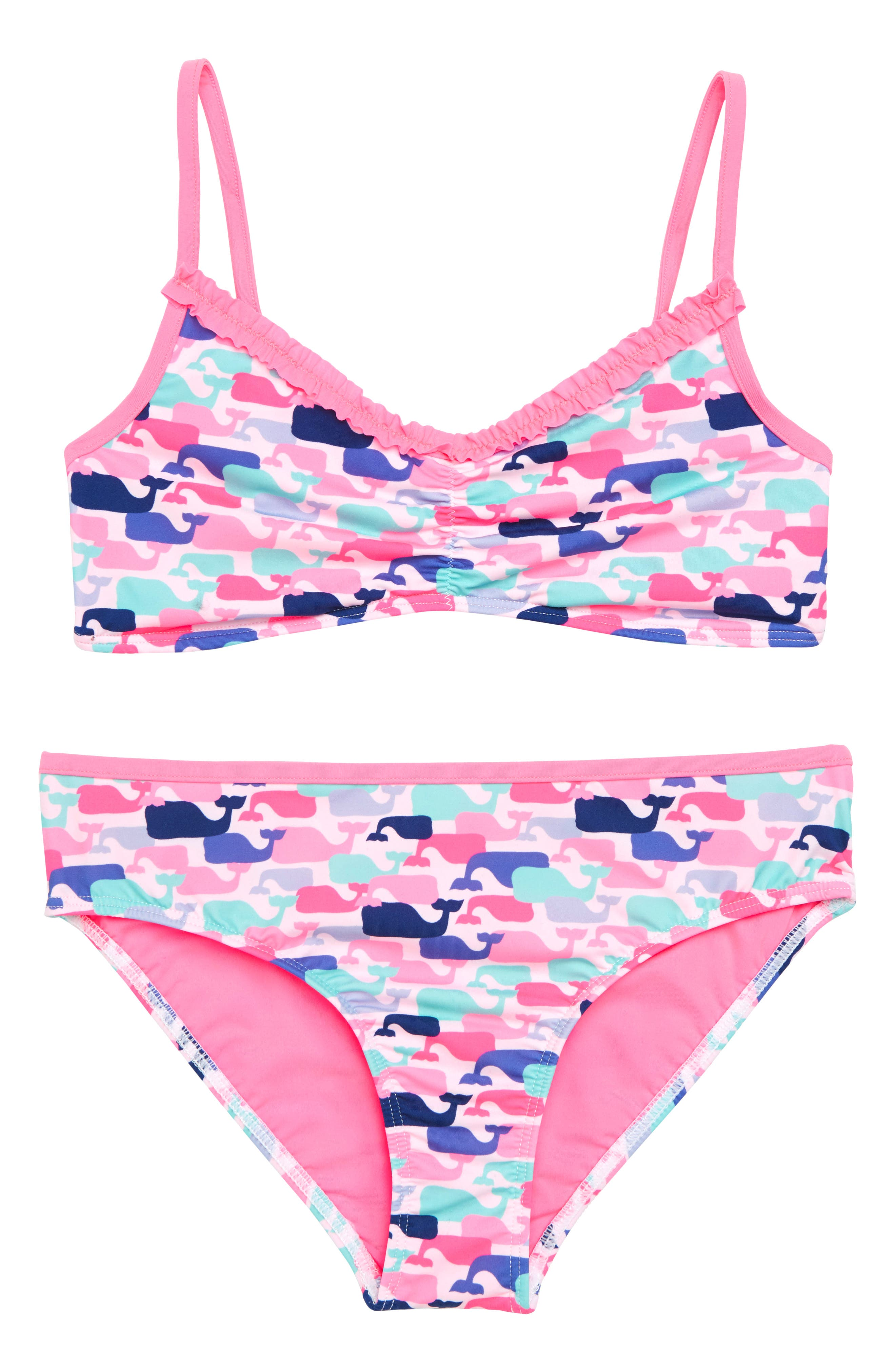 vineyard vines Whale Print Two-Piece Swimsuit (Little Girls & Big Girls)