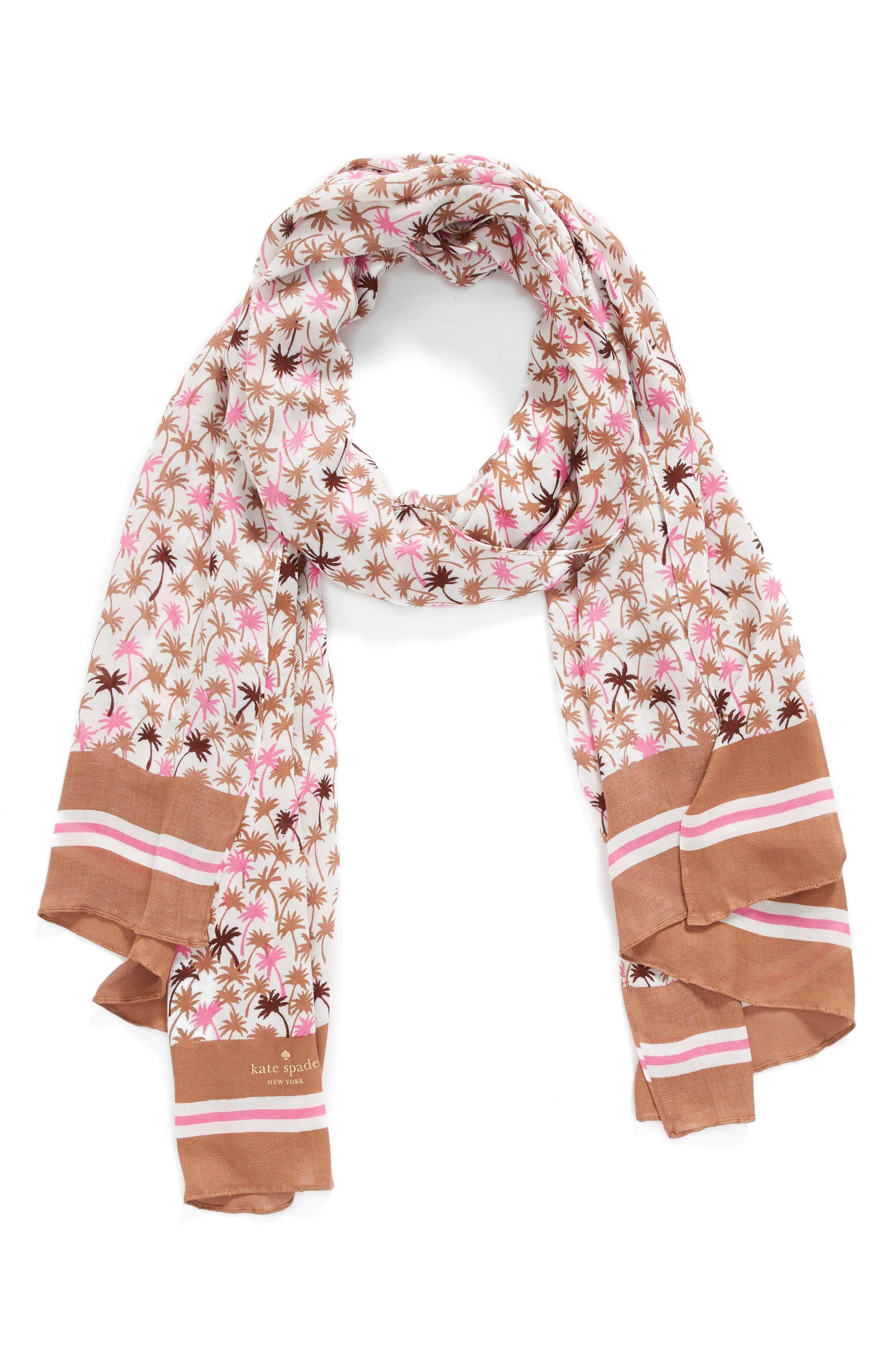 mini palm scarf,                             Alternate thumbnail 2, color,                             Pink Lemonade