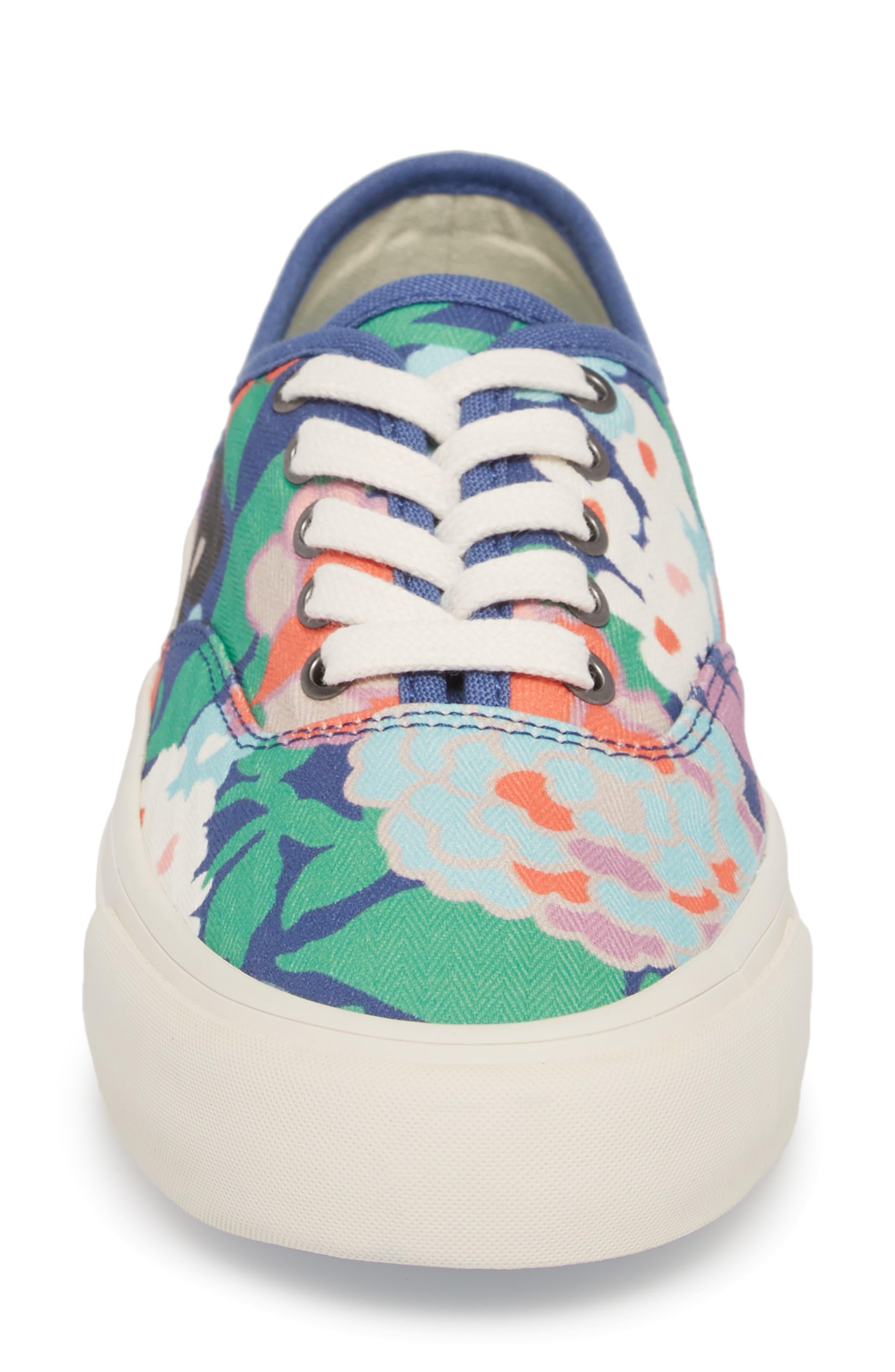 x Trina Turk Legend Sneaker,                             Alternate thumbnail 4, color,                             Greenhouse Floral