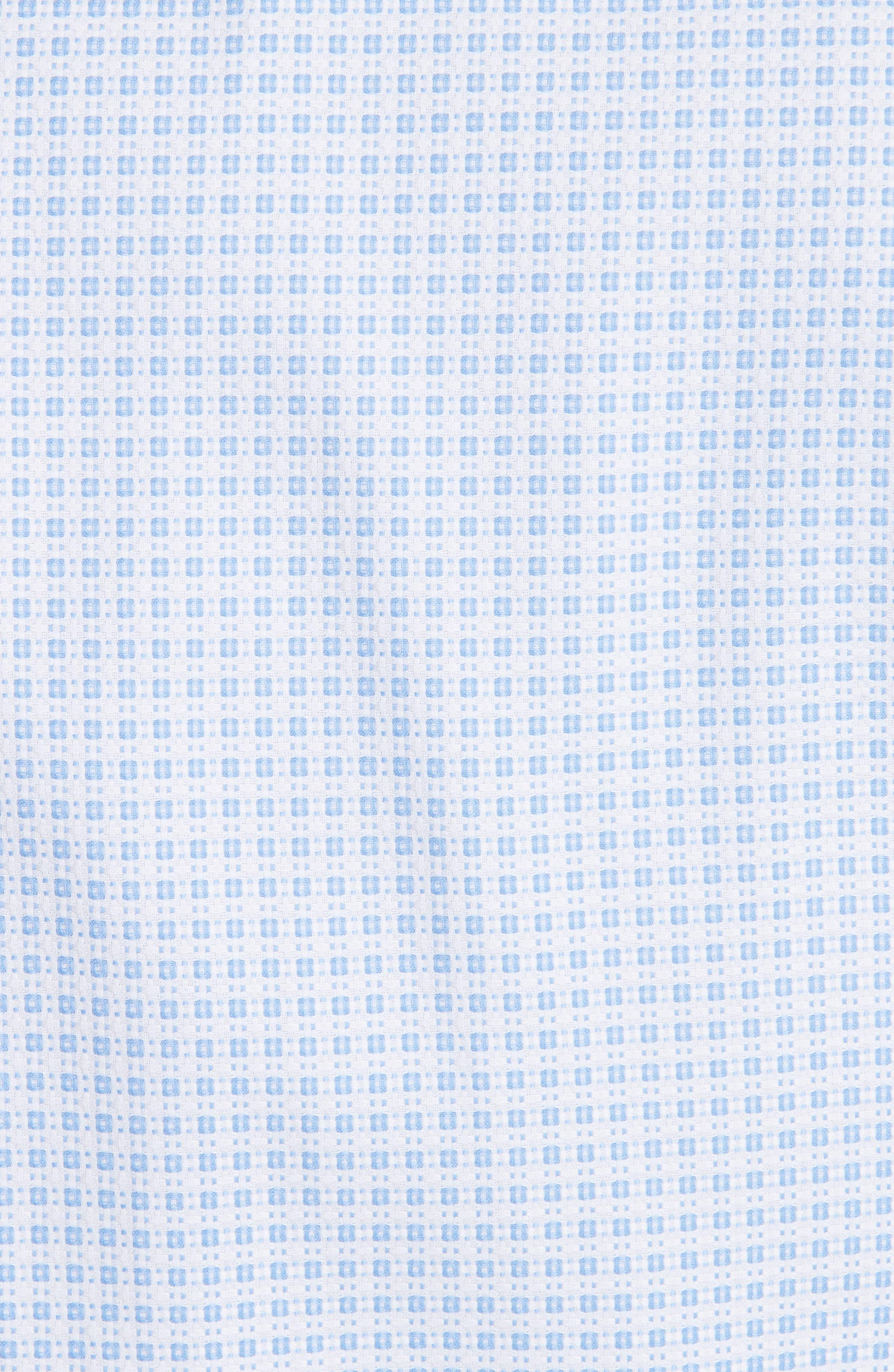 Regular Fit Check Dress Shirt,                             Alternate thumbnail 5, color,                             Bright Blue