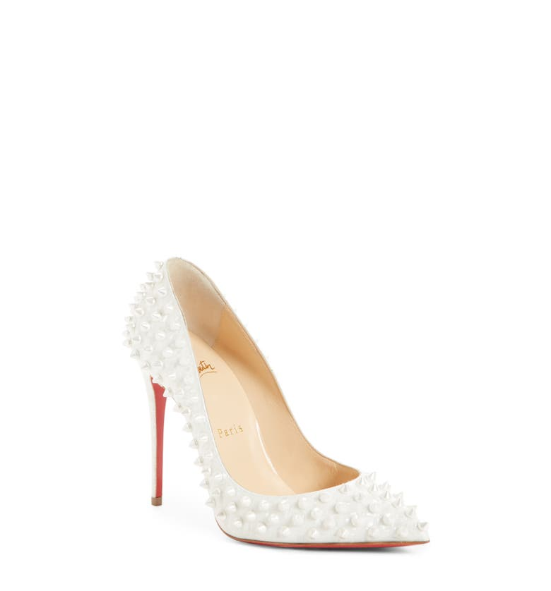 b2c80e43e4ef Christian Louboutin Follies Spikes Patent Leather Pumps - Latte ...