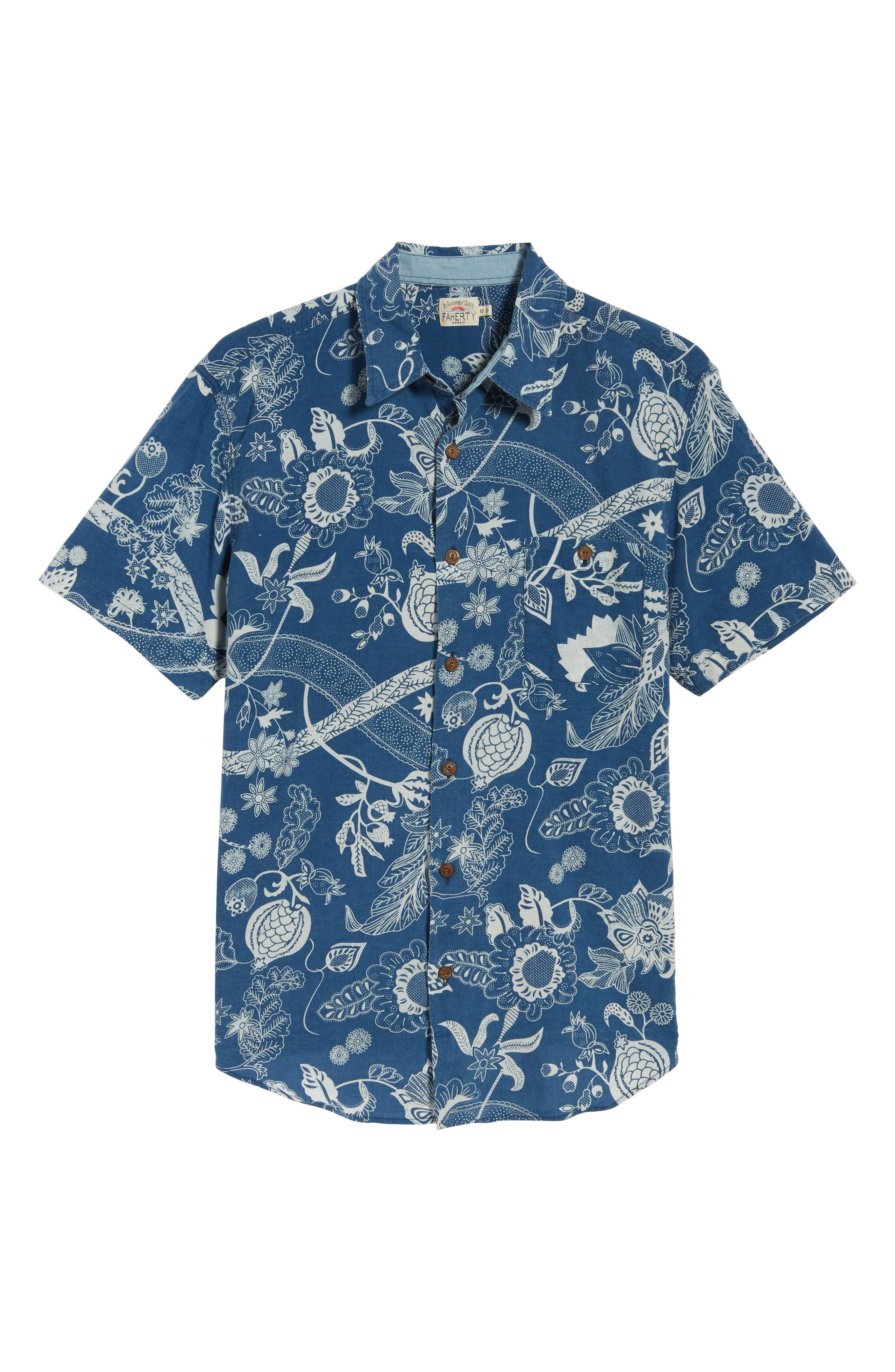 Coast Floral Sport Shirt,                             Alternate thumbnail 6, color,                             Kenji Floral
