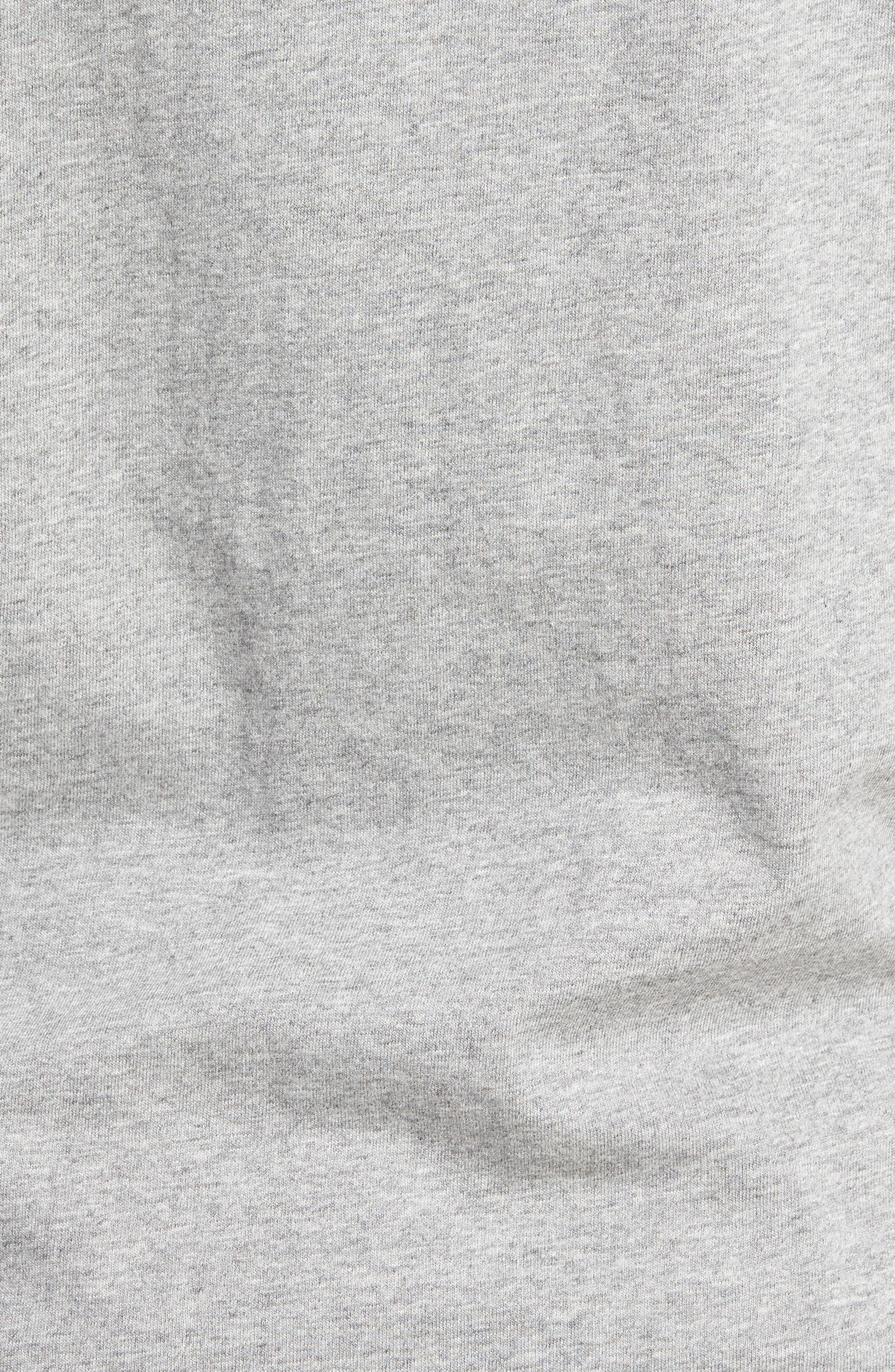Van Doren Hooded T-Shirt,                             Alternate thumbnail 5, color,                             Cement Heather/ Dress Blues